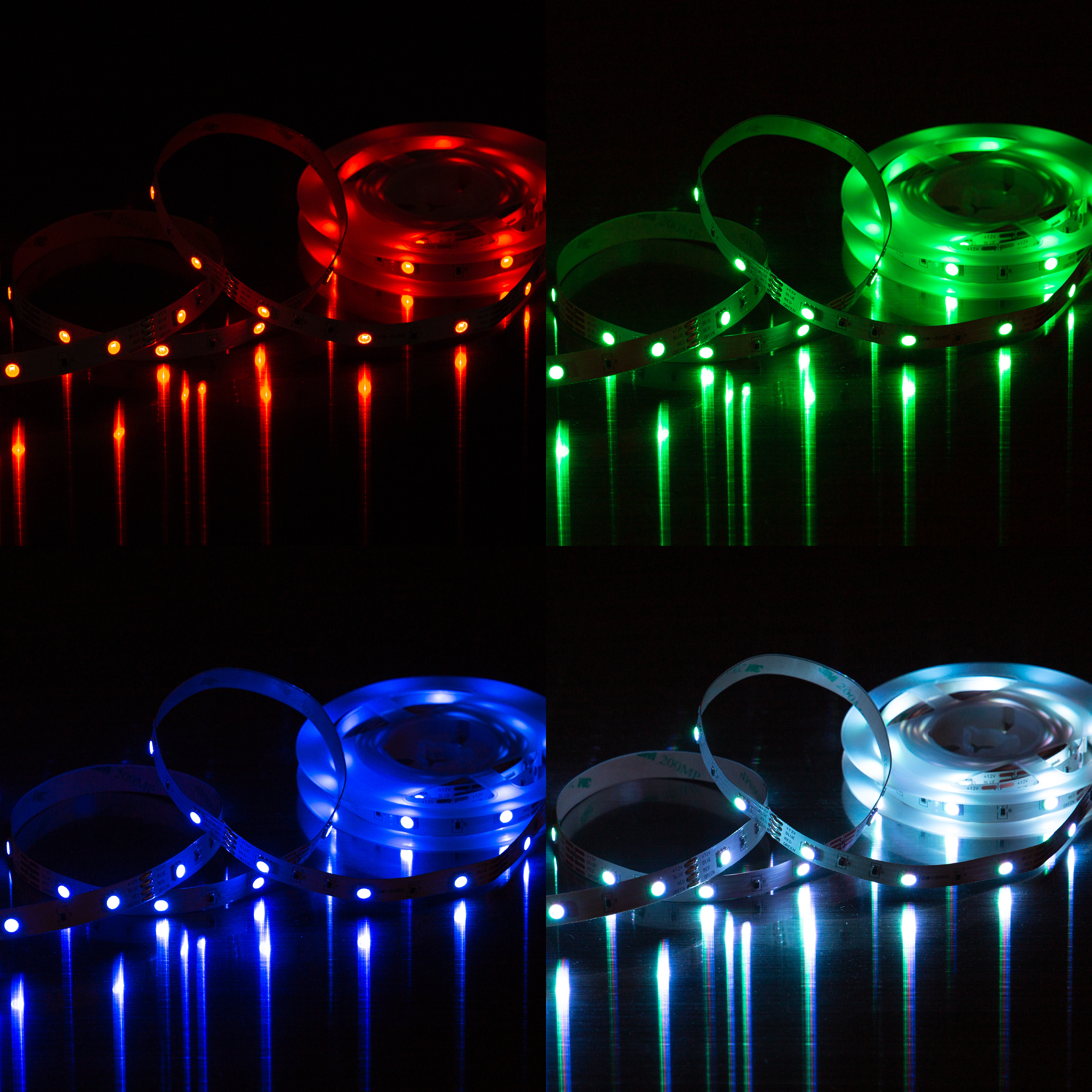 RGB LED Flexband, 3 Meter, 12 W, Weiss