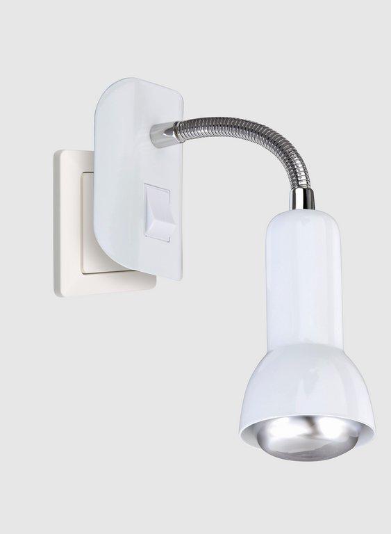 LED Steckerleuchte, 7 cm, max. 25 W, Weiss