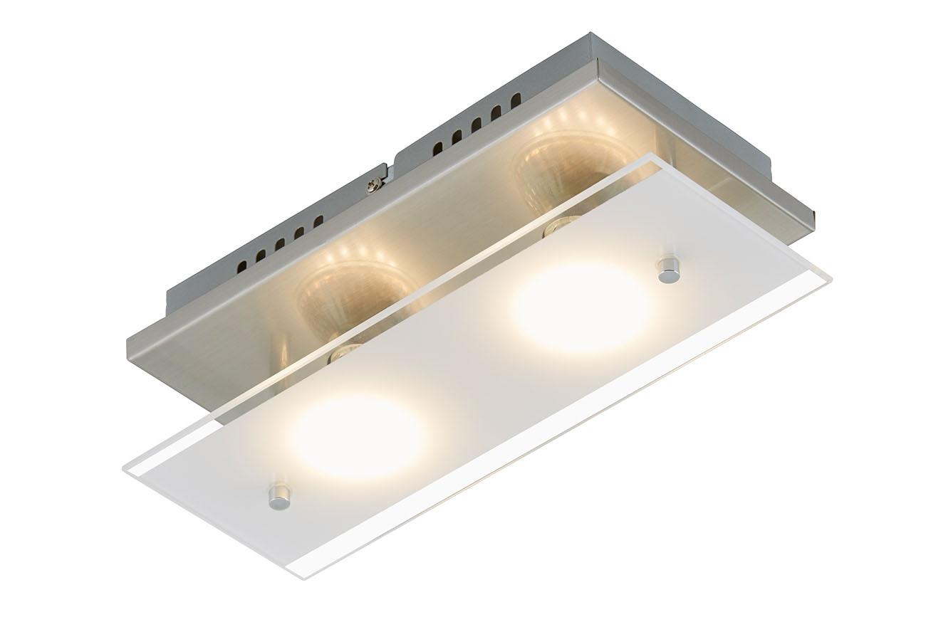 LED Deckenleuchte, 27 cm, 6 W, Matt-Nickel