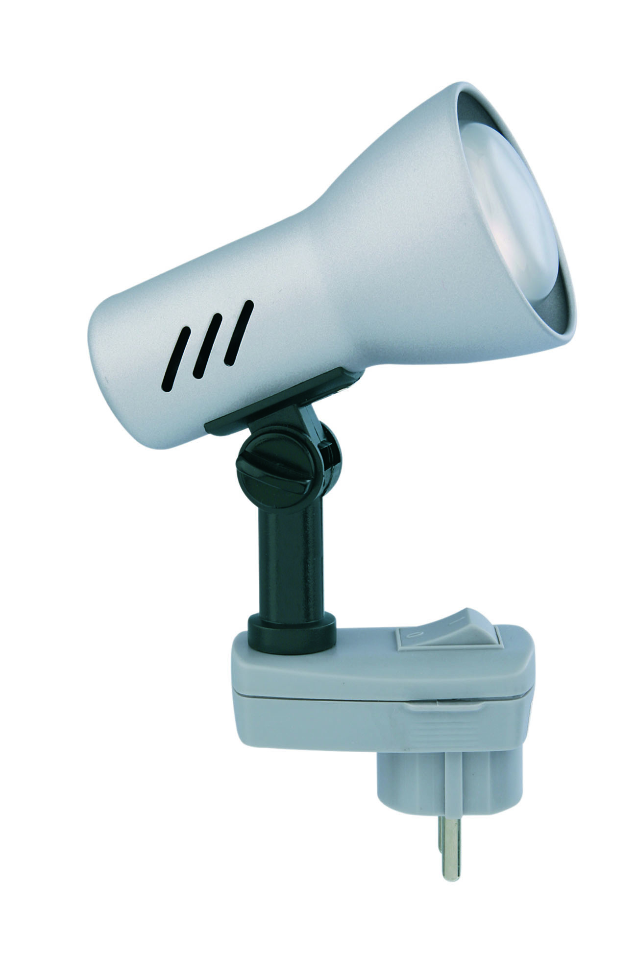 LED Steckerleuchte, 10 cm, max. 25 W, Titan