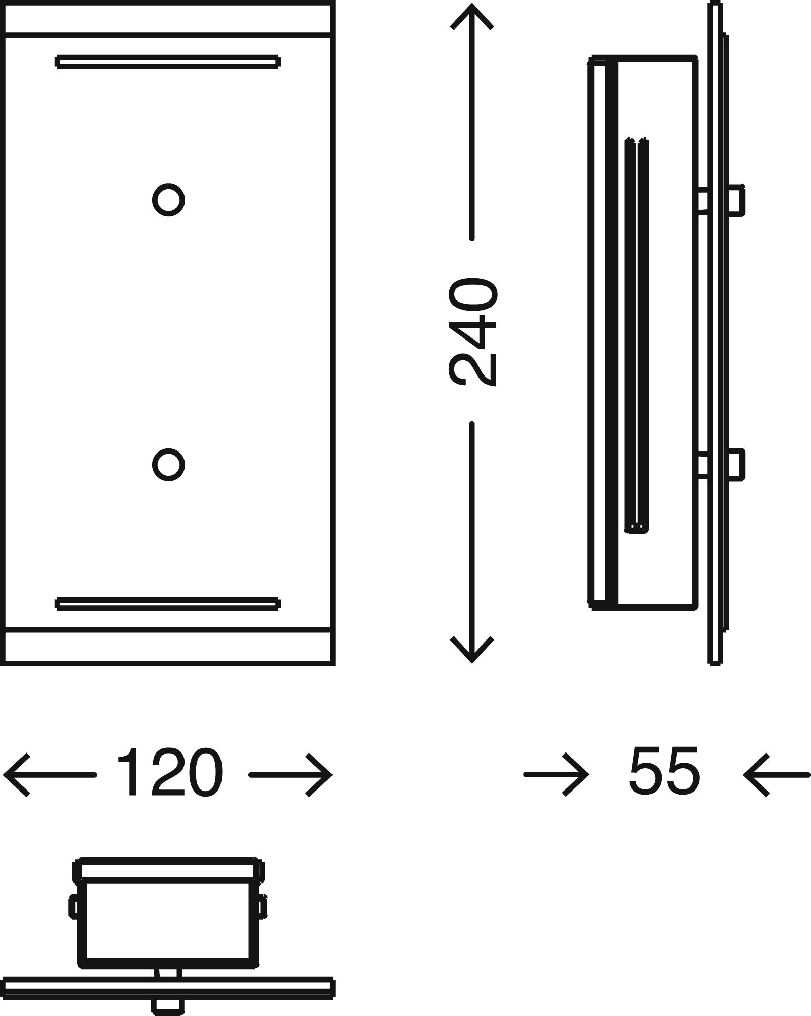 TELEFUNKEN LED Aussenleuchte, 24 cm, 7,5 W, Anthrazit