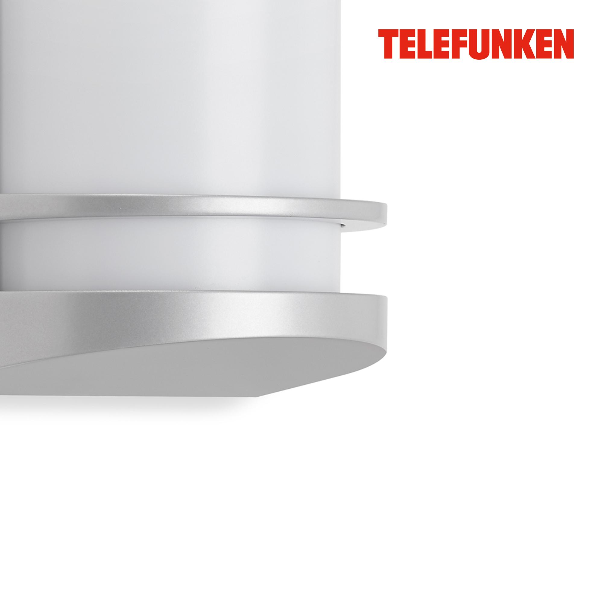 TELEFUNKEN LED Außenwandleuchte Silber