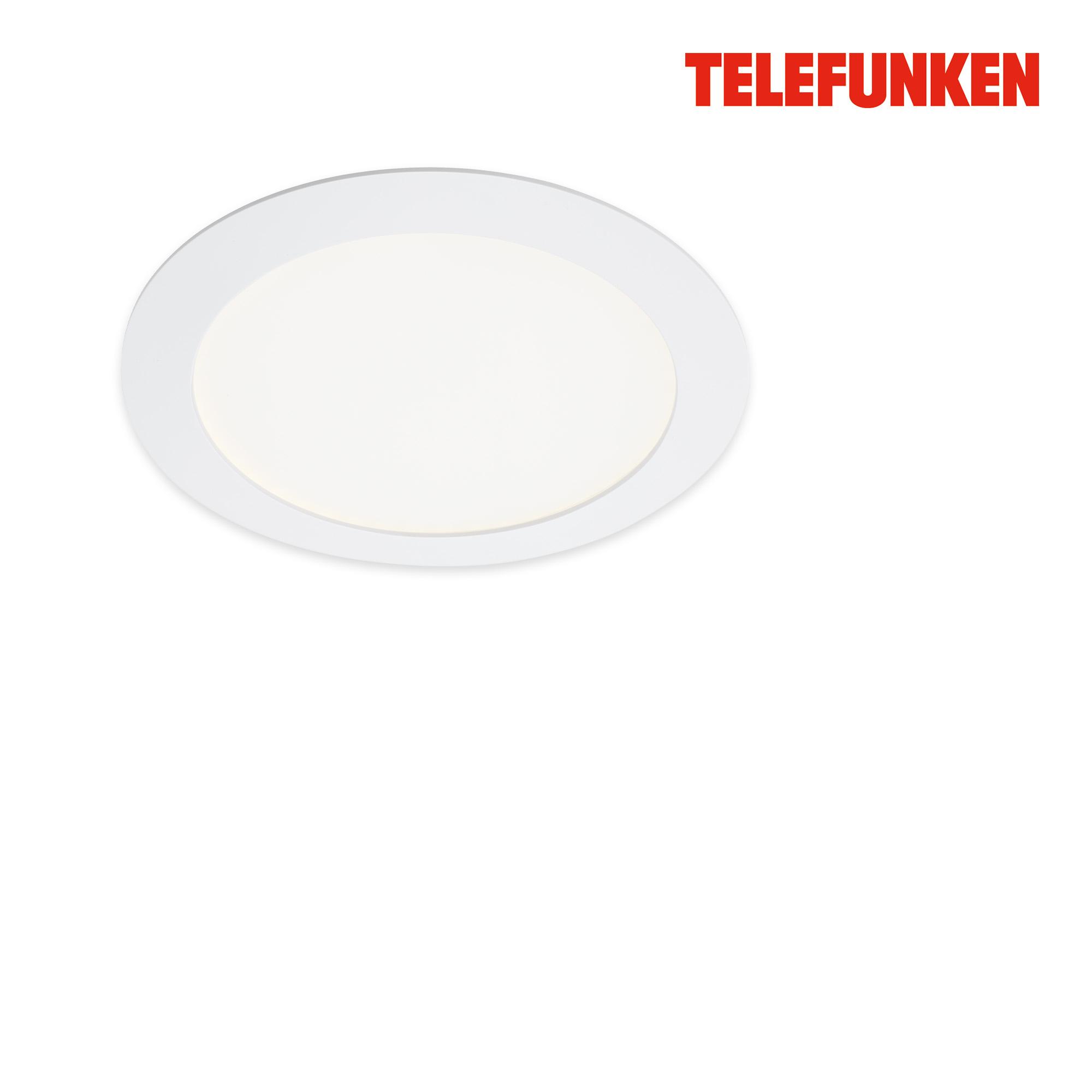 TELEFUNKEN Smart LED Einbauleuchte, Ø 17 cm, 12 W, Weiß