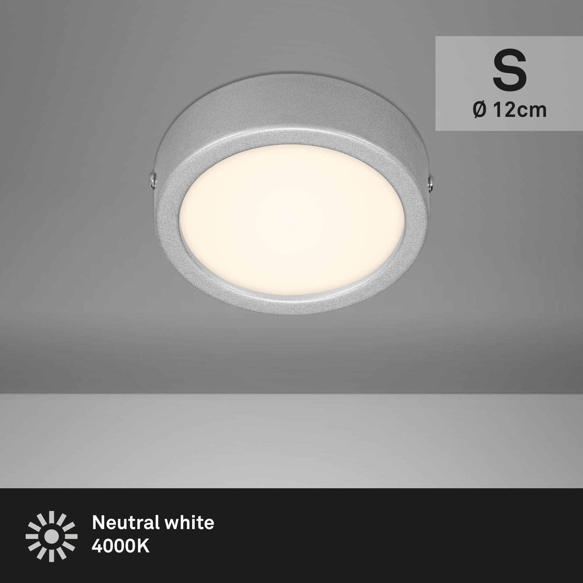 LED Deckenleuchte Chrom-Matt