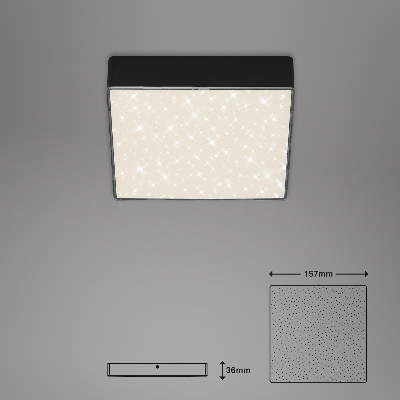Sternenhimmel LED Deckenleuchte schwarz Maßzeichnung