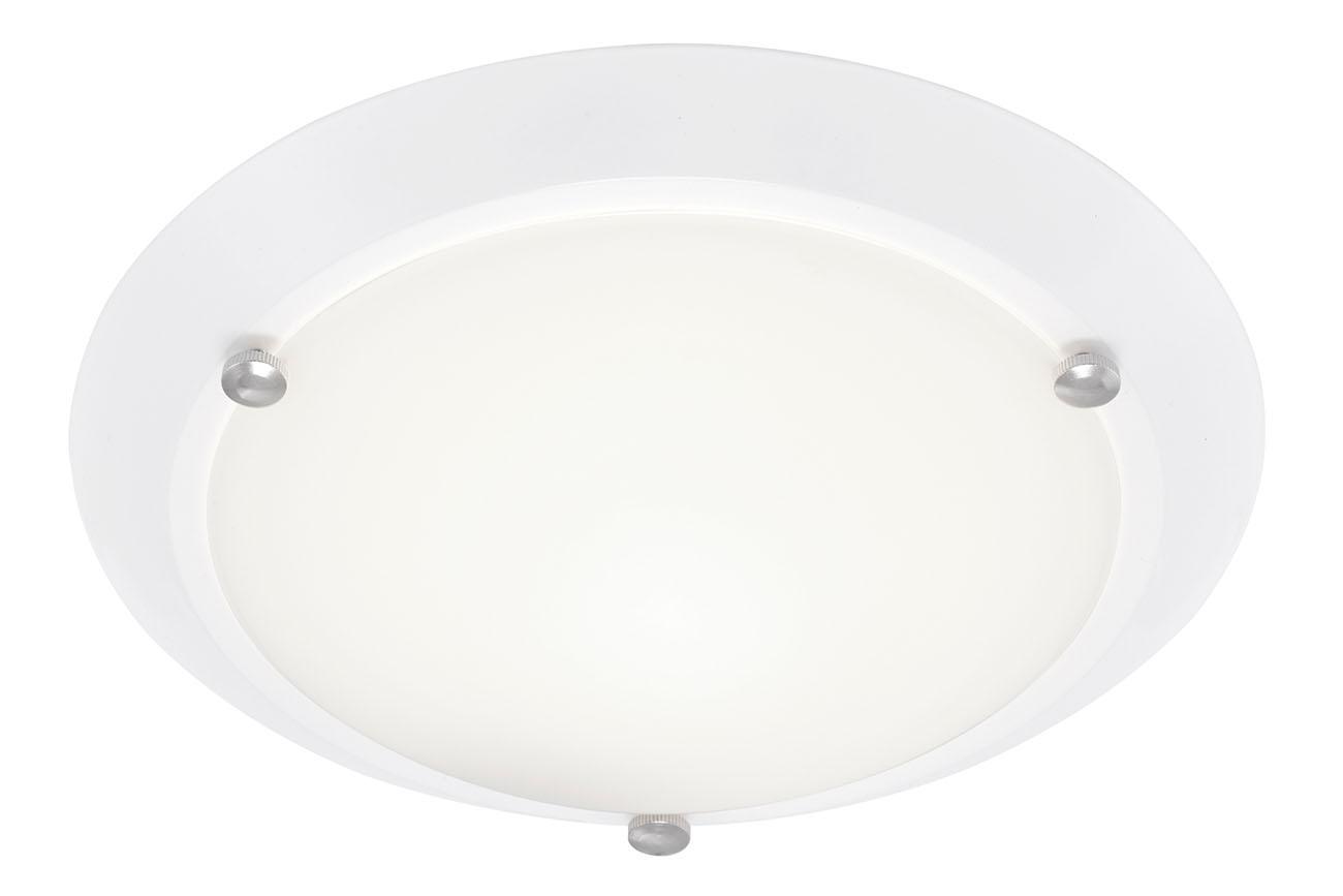 Deckenleuchte, Ø 27 cm, max. 60 W, Weiß