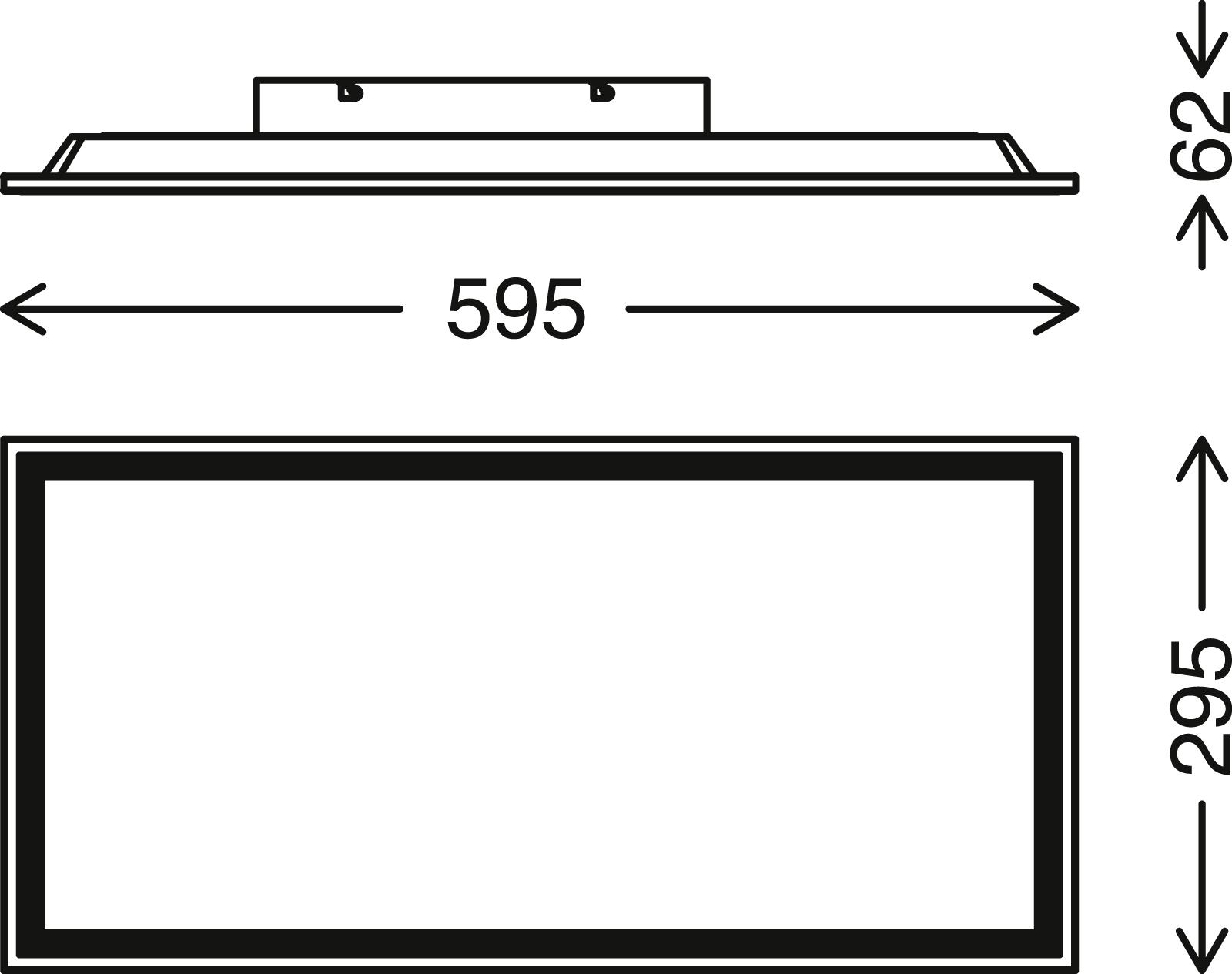 LED Panel, 59,5 cm, 2400 LUMEN, 24 WATT, Weiss