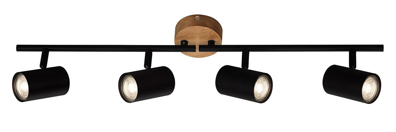 LED Spot Deckenleuchte, 68,2 cm, max. 38 W, Schwarz