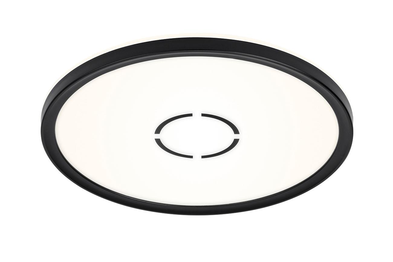 Slim LED Panel, Ø 29,3 cm, 2400 LUMEN, 18 WATT, Schwarz