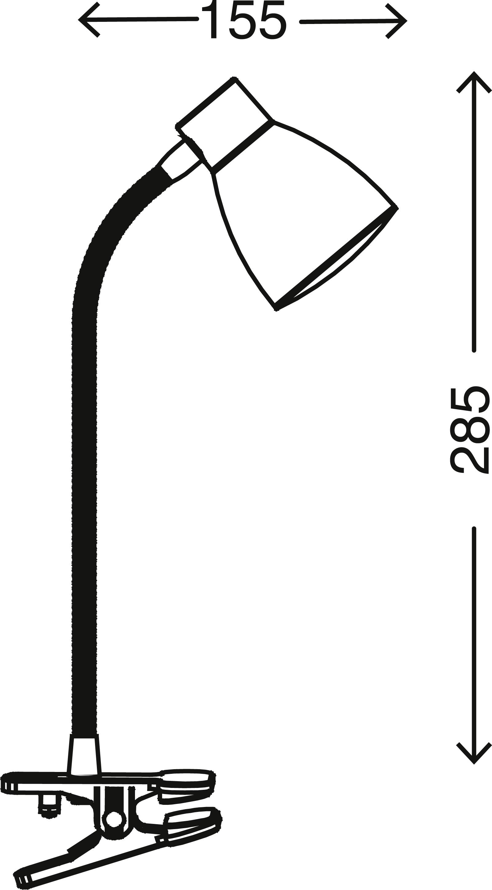 LED Klemmleuchte, 7 cm, 2,5 W, Titan