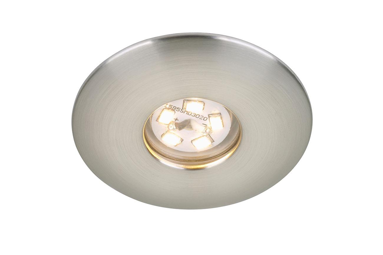 LED Einbauleuchte, Ø 4,5 cm, 1,8 W, Matt-Nickel