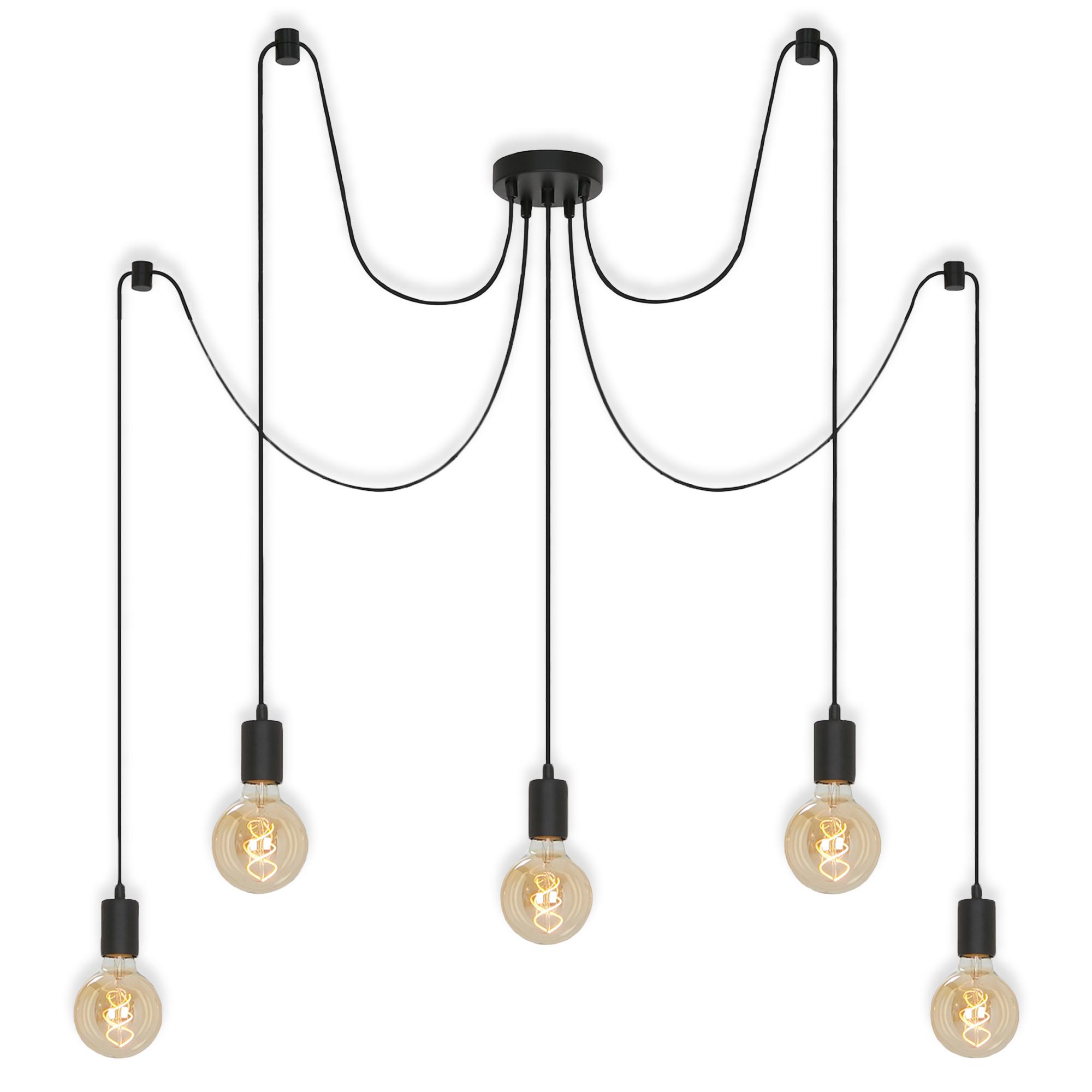 LED Deckenleuchte, Ø 100 cm, max. 60 W, Schwarz