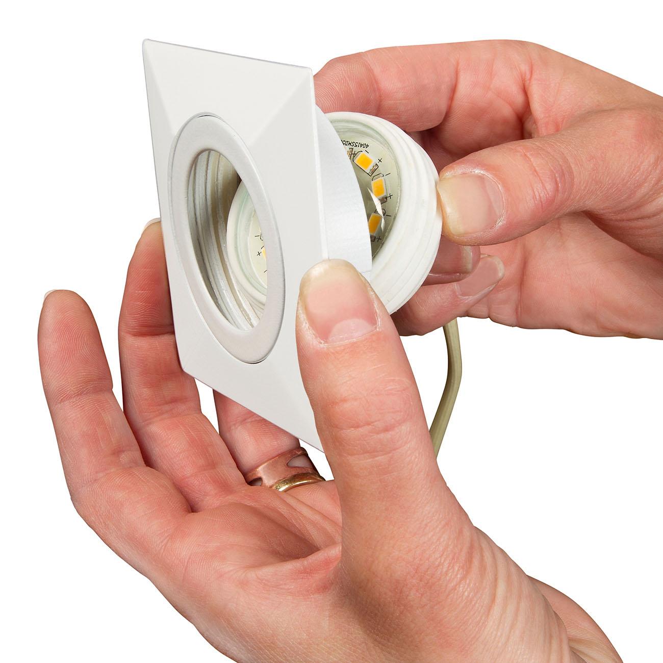LED Einbauleuchte, 8,2 cm, 5 W, Weiß