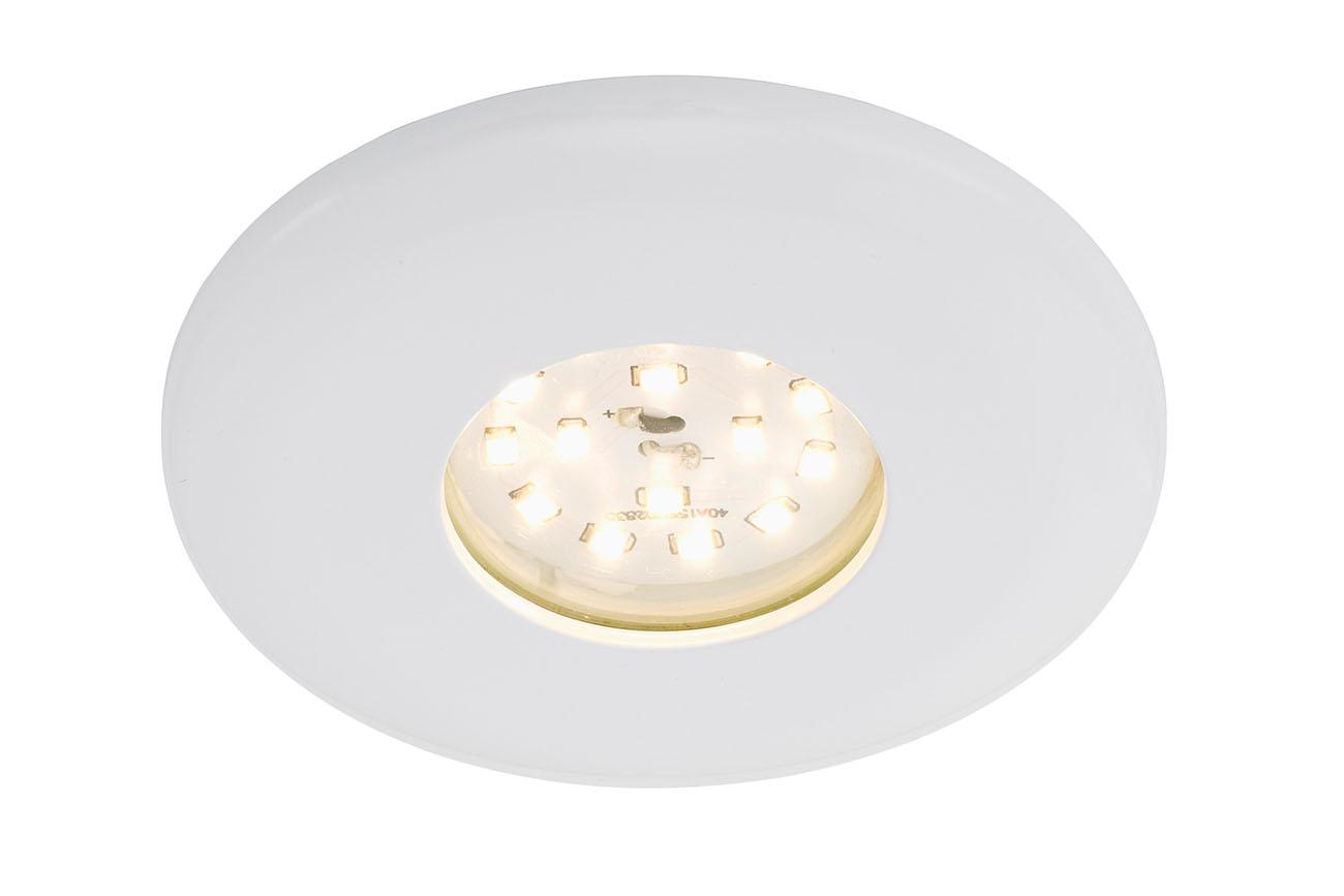 LED Einbauleuchte, Ø 9,3 cm, 5 W, Weiss