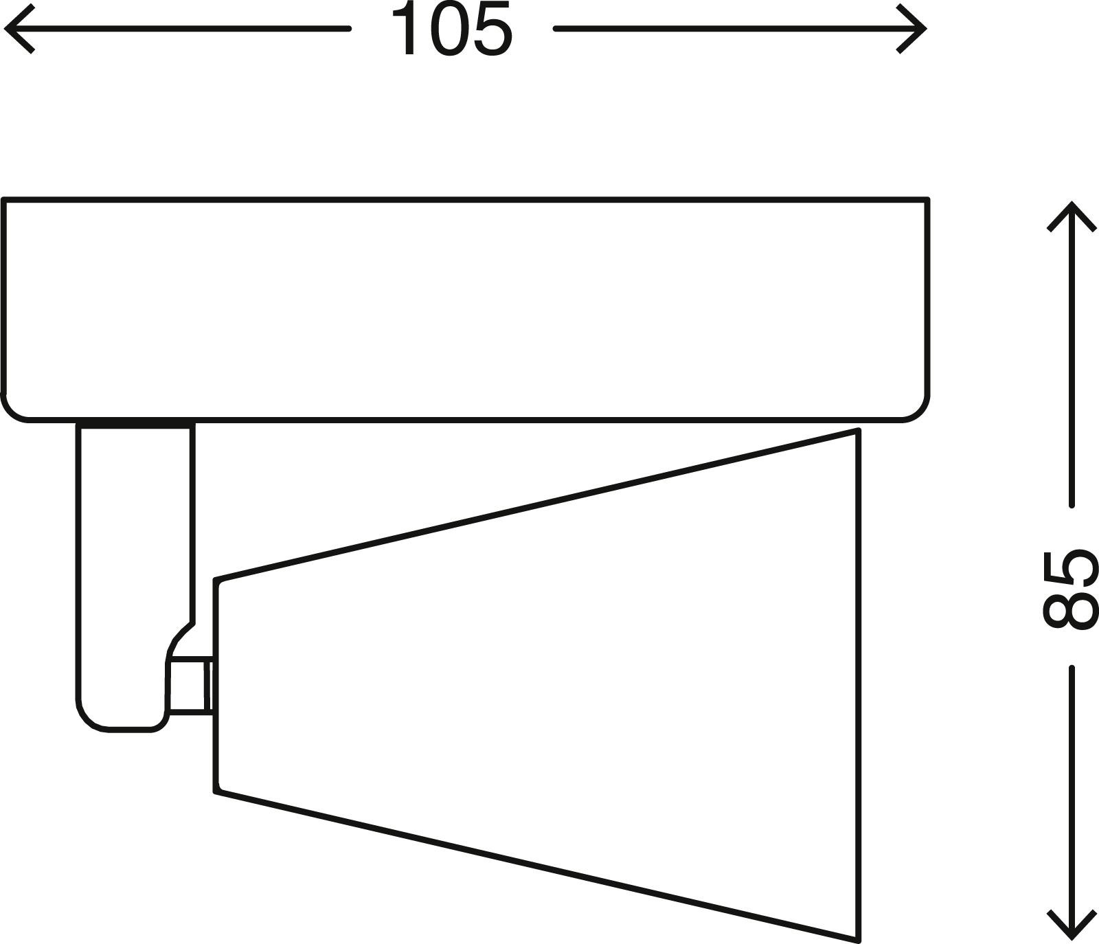 LED Spot Wandleuchte, 10,5 cm, 5 W, Matt-Nickel