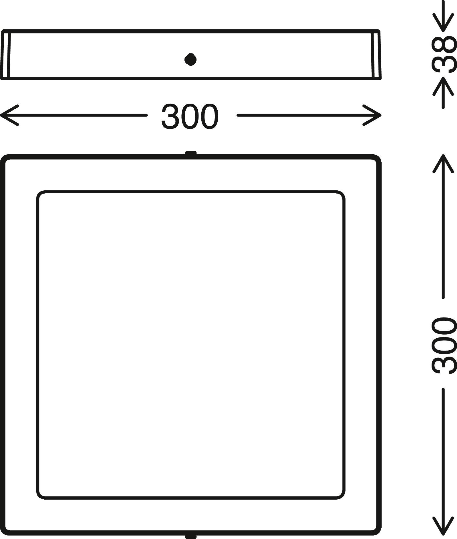 TELEFUNKEN Smart LED Aufbauleuchte, 30 cm, 23 W, Weiss