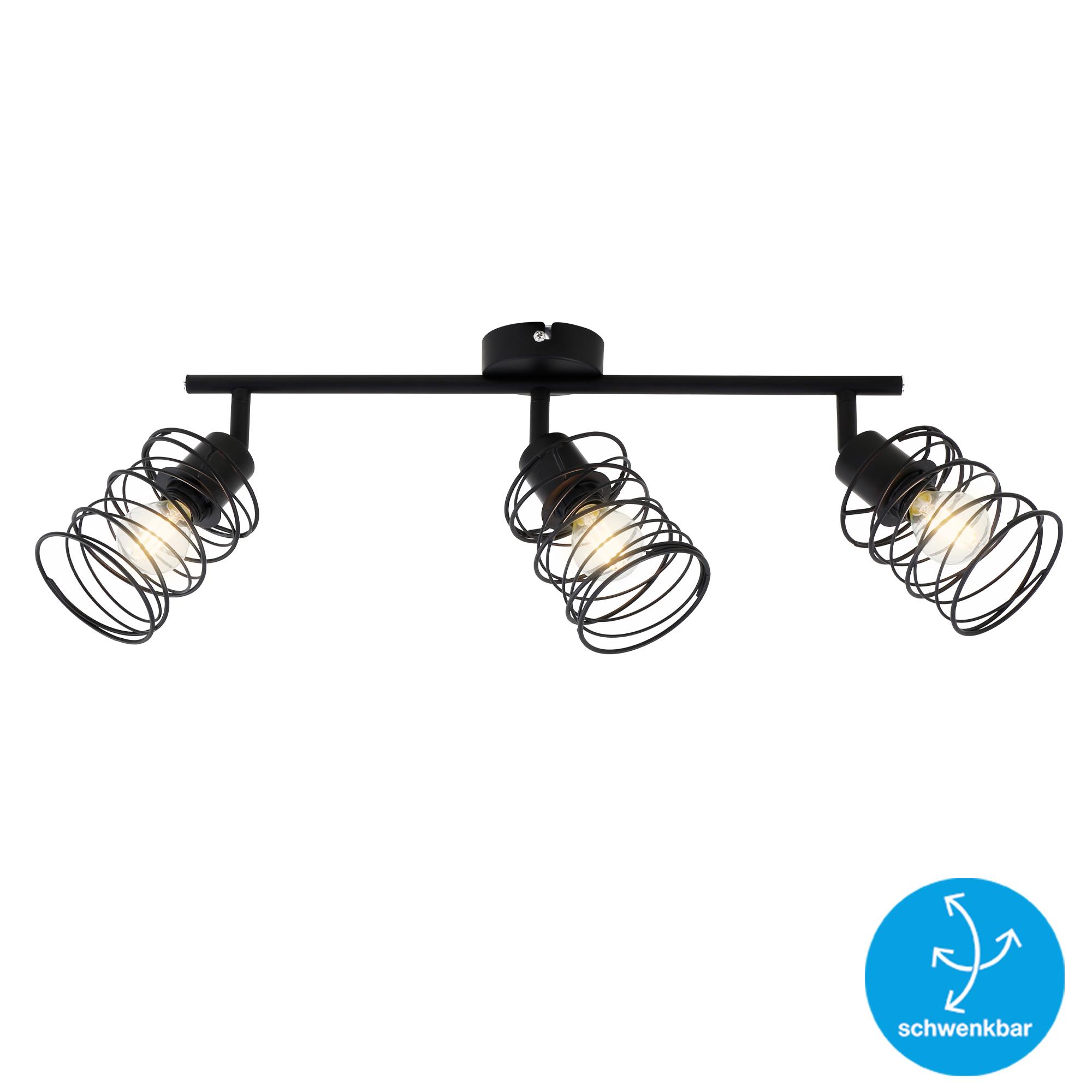 LED Spot Deckenleuchte, 47,5 cm, max. 40 W, Schwarz