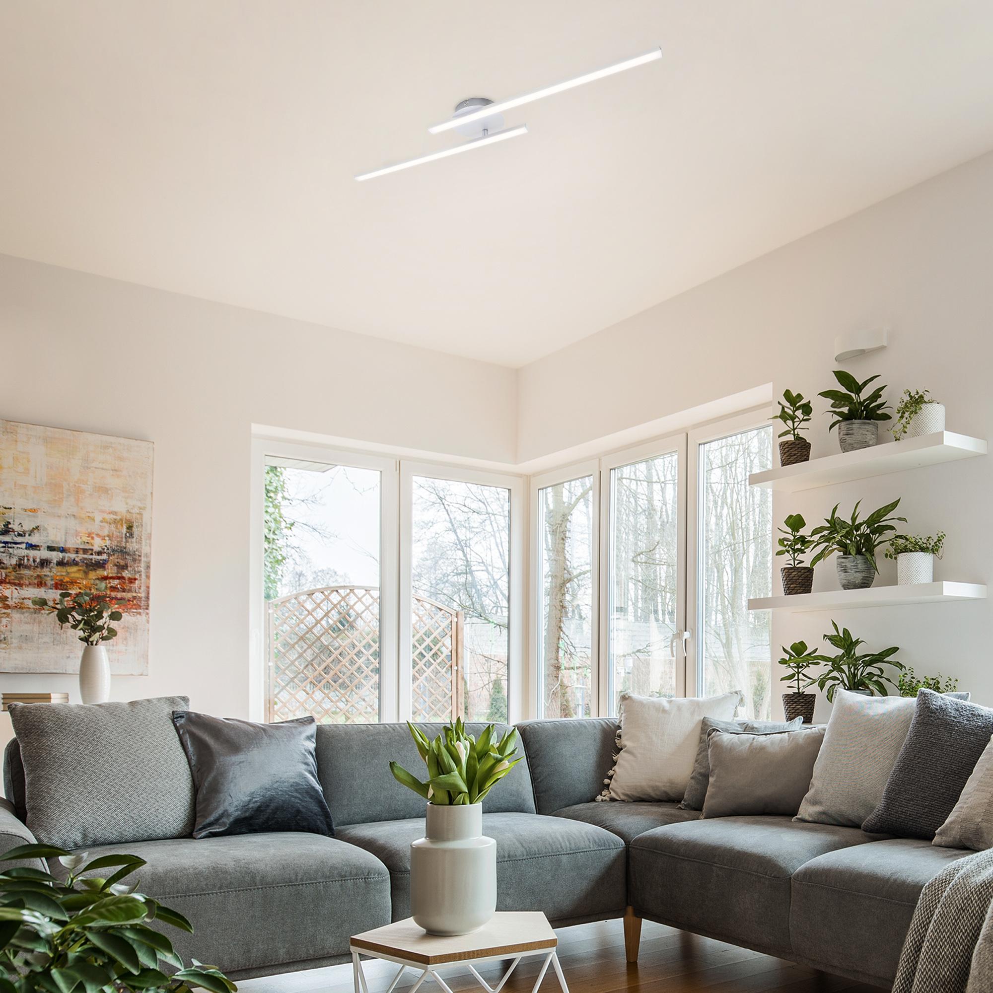 LED Wand- und Deckenleuchte Alu