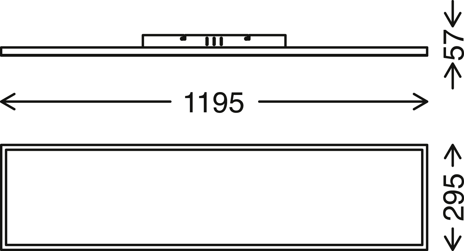 FRAMELESS LED Panel 119,5 cm, 5200 LUMEN, 40 WATT, Weiss