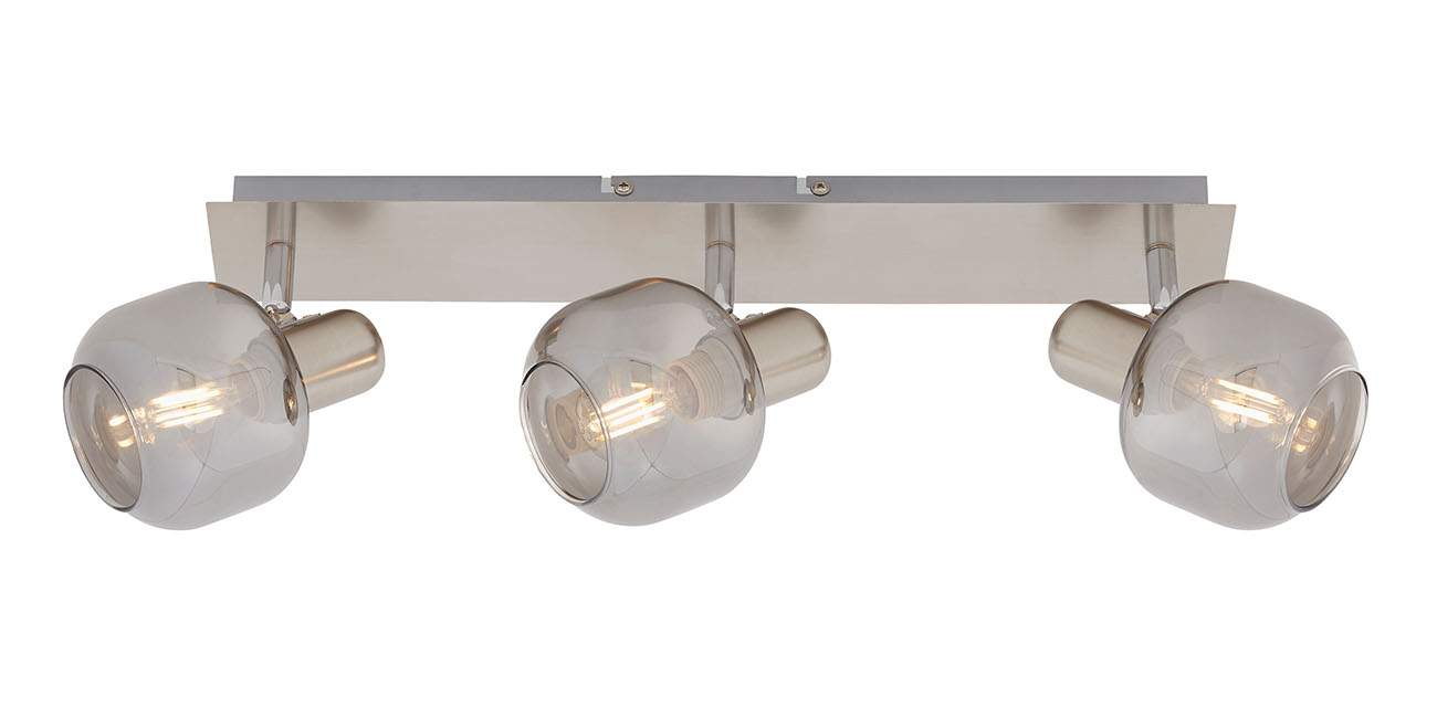 LED Spot Deckenleuchte, 44 cm, max. 40 W, Matt-Nickel