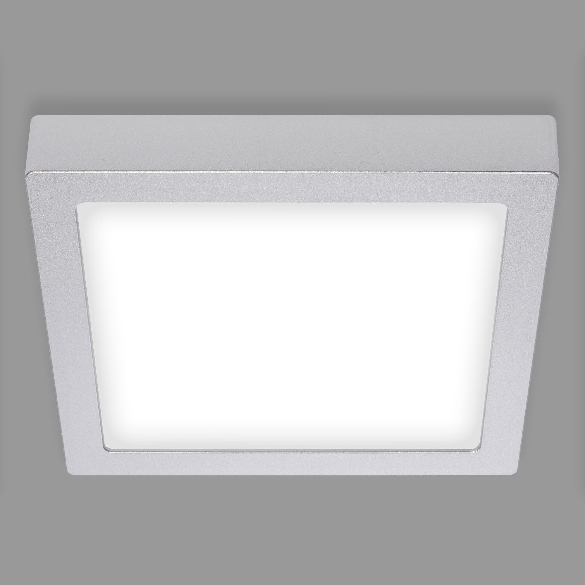 LED Deckenleuchte, 22,5 cm, 17 W, Chrom-Matt