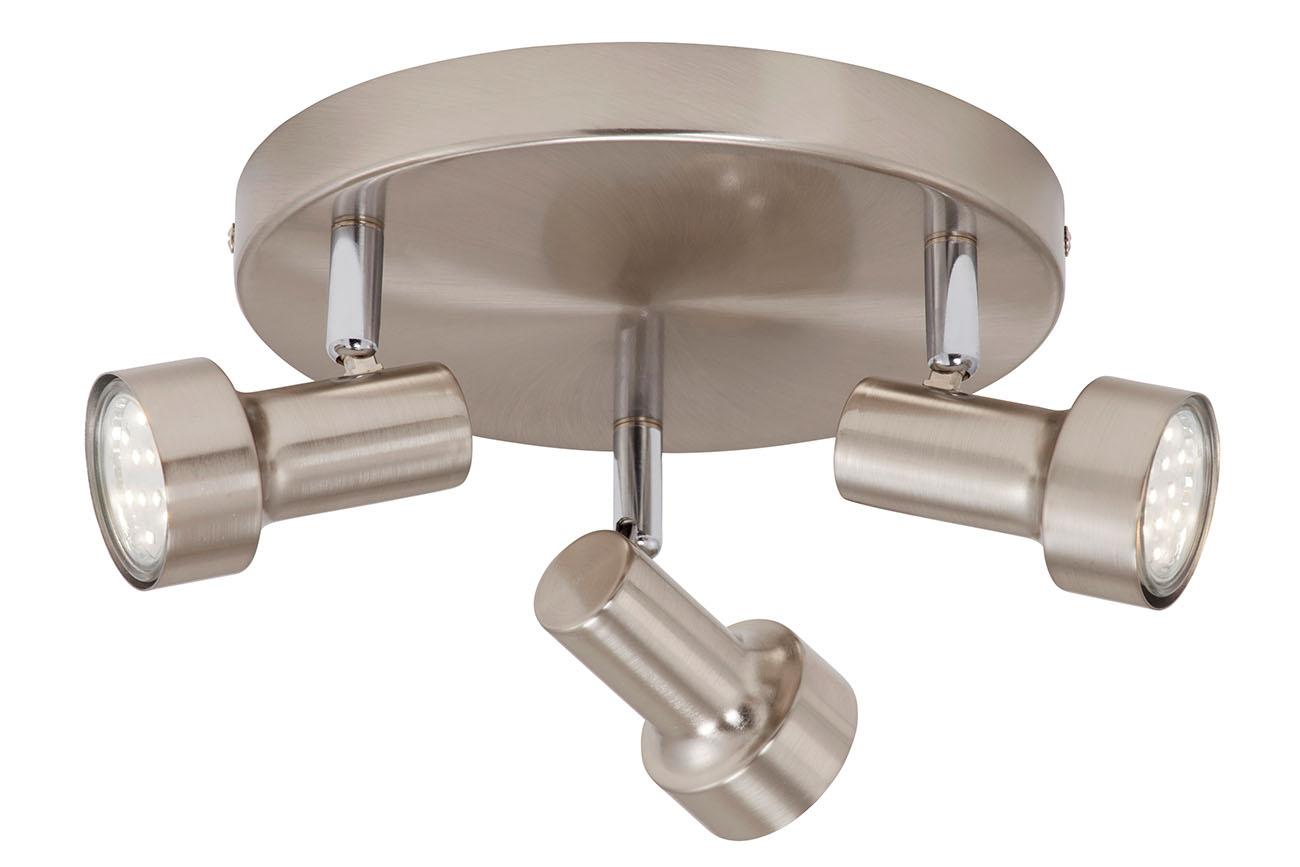LED Spot Deckenleuchte, Ø 21 cm, 9 W, Matt-Nickel