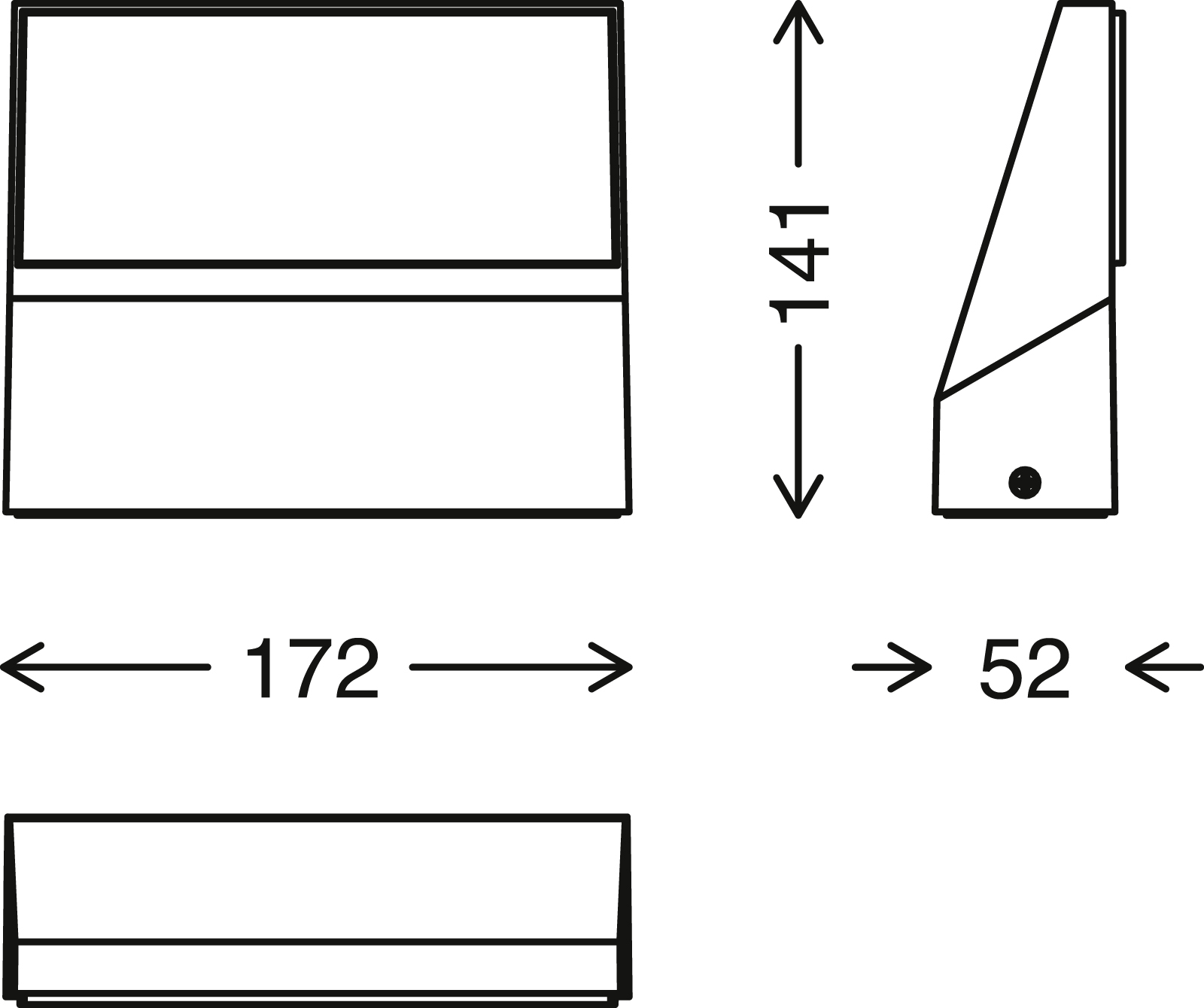 TELEFUNKEN LED Aussenwandleuchte, 17,2 cm, 10 W, Schwarz