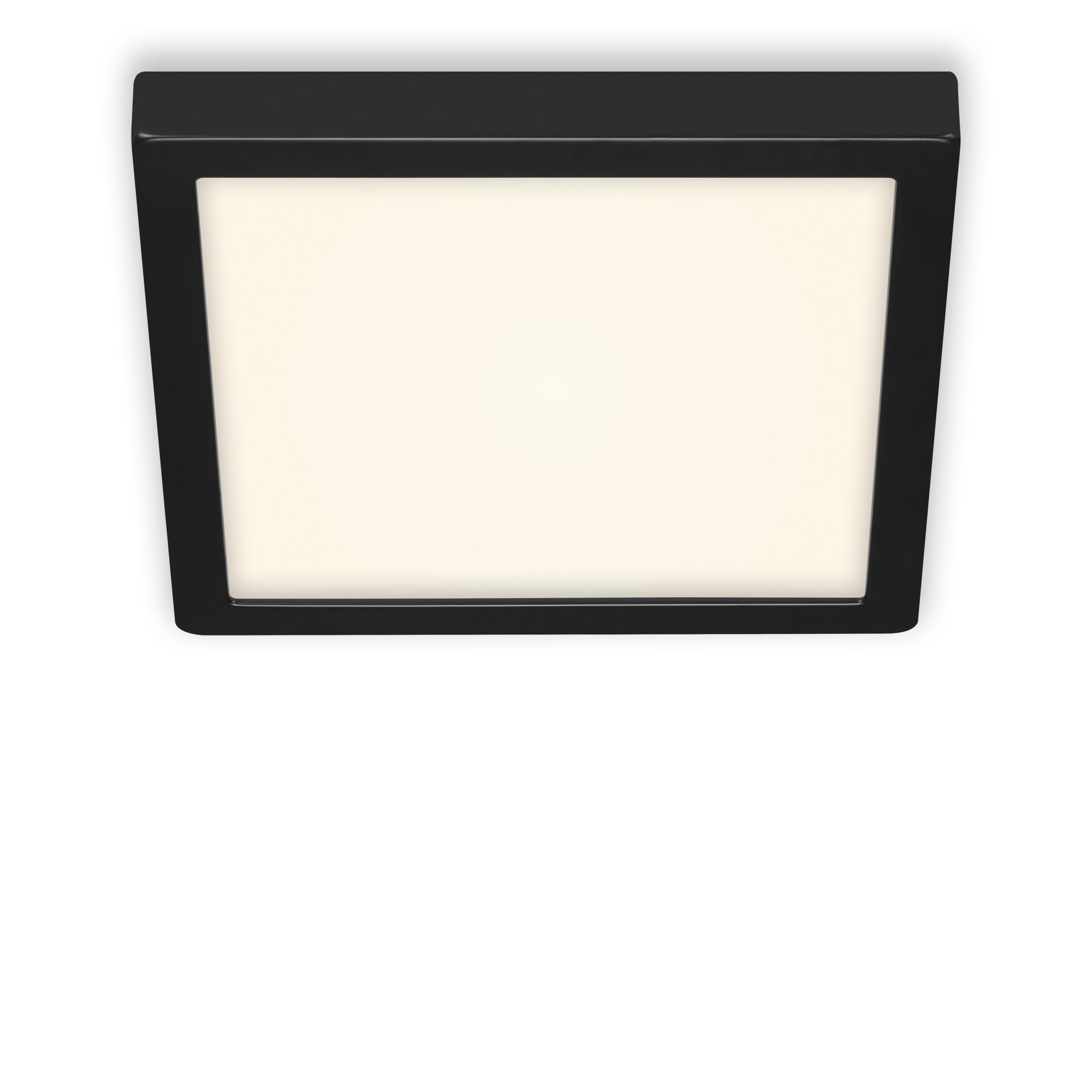LED Deckenleuchte, 30 cm, 21 W, Schwarz