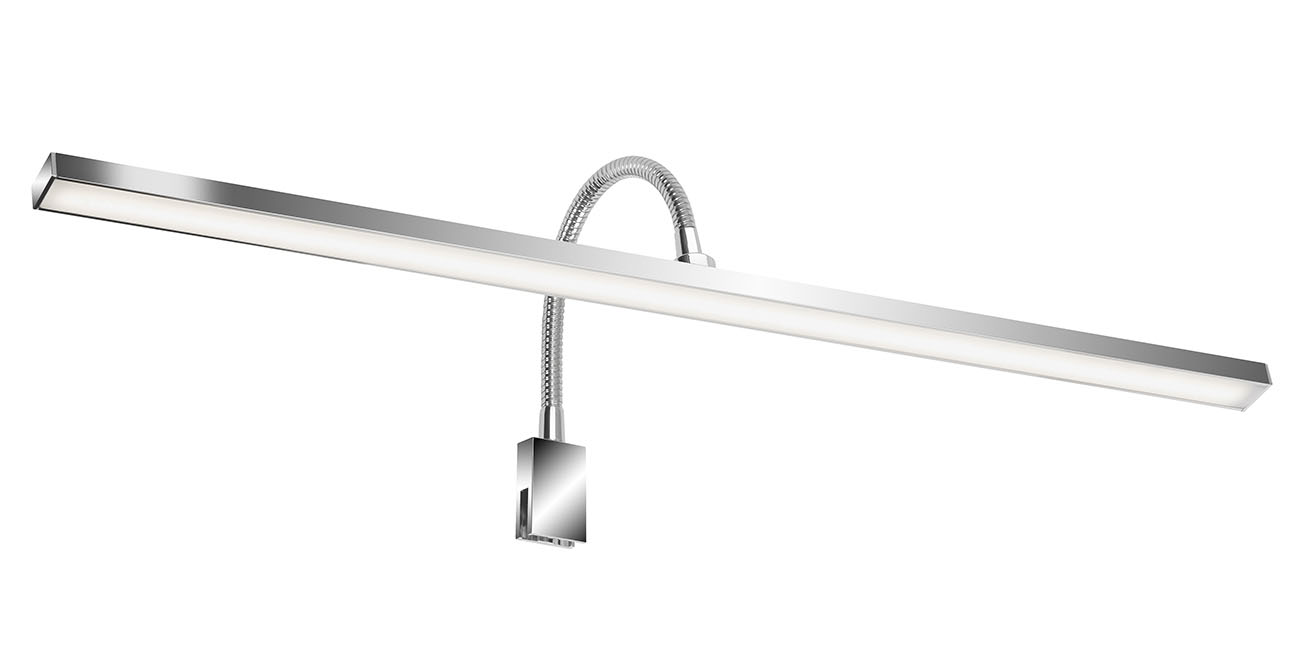 LED Spiegelleuchte, 60 cm, 7 W, Chrom