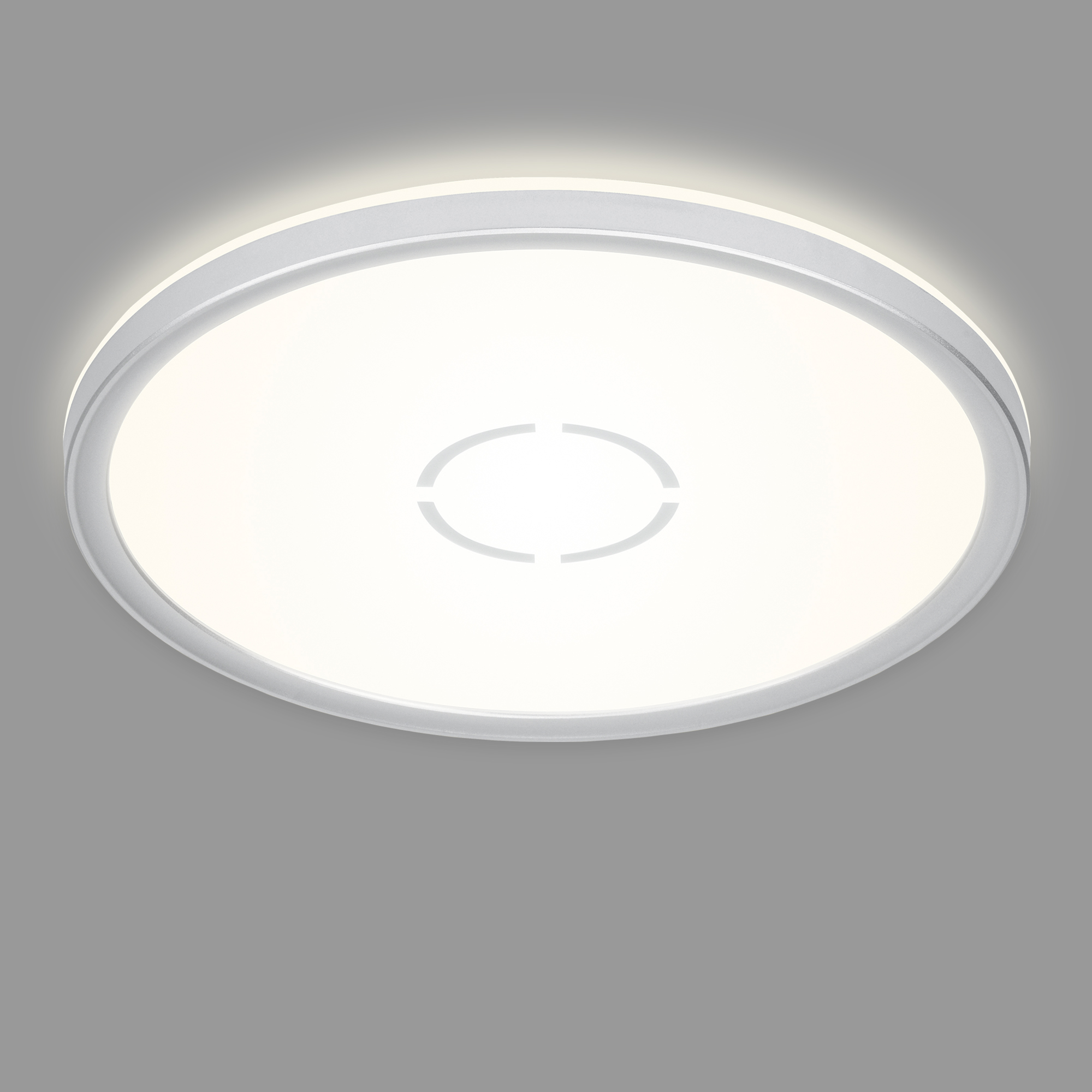 Slim LED Panel, Ø 29,3 cm, 2400 LUMEN, 18 WATT, Silber