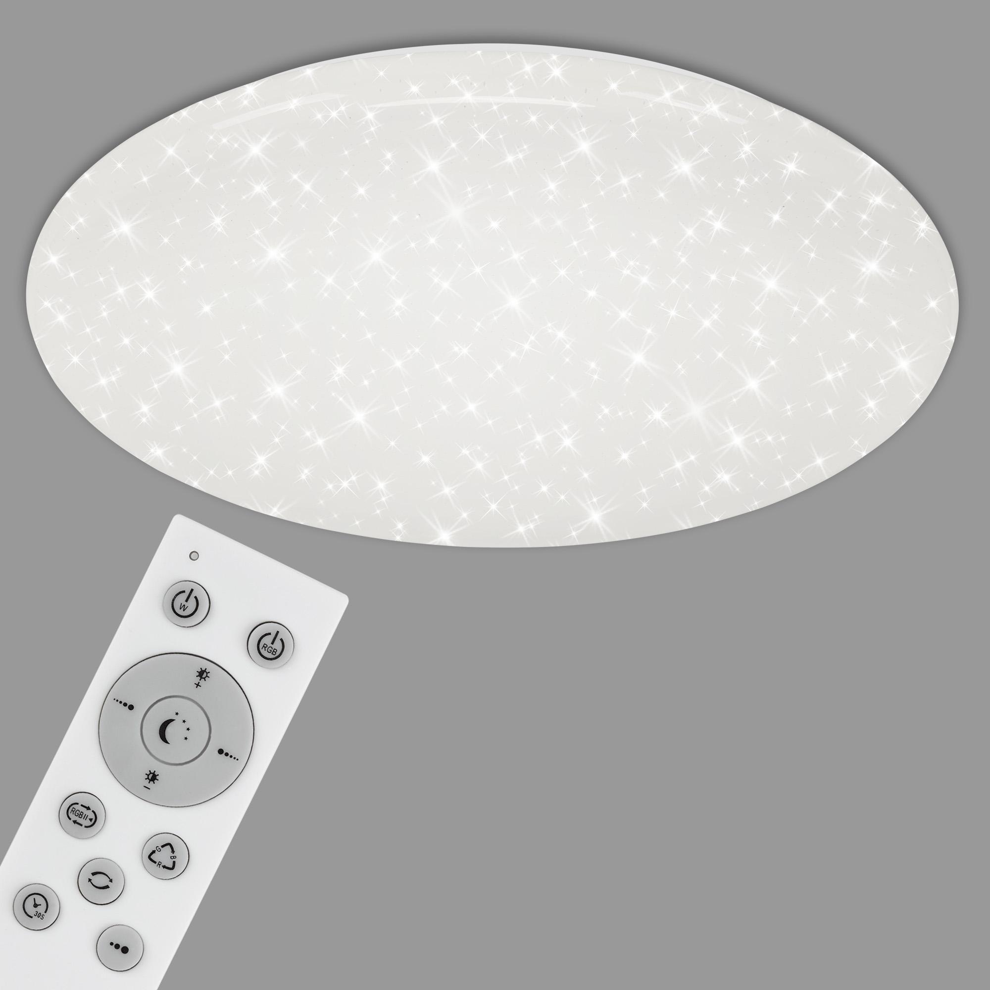 RGB Farbwechsel LED Deckenleuchte, Ø 60 cm, 42 W, Weiss