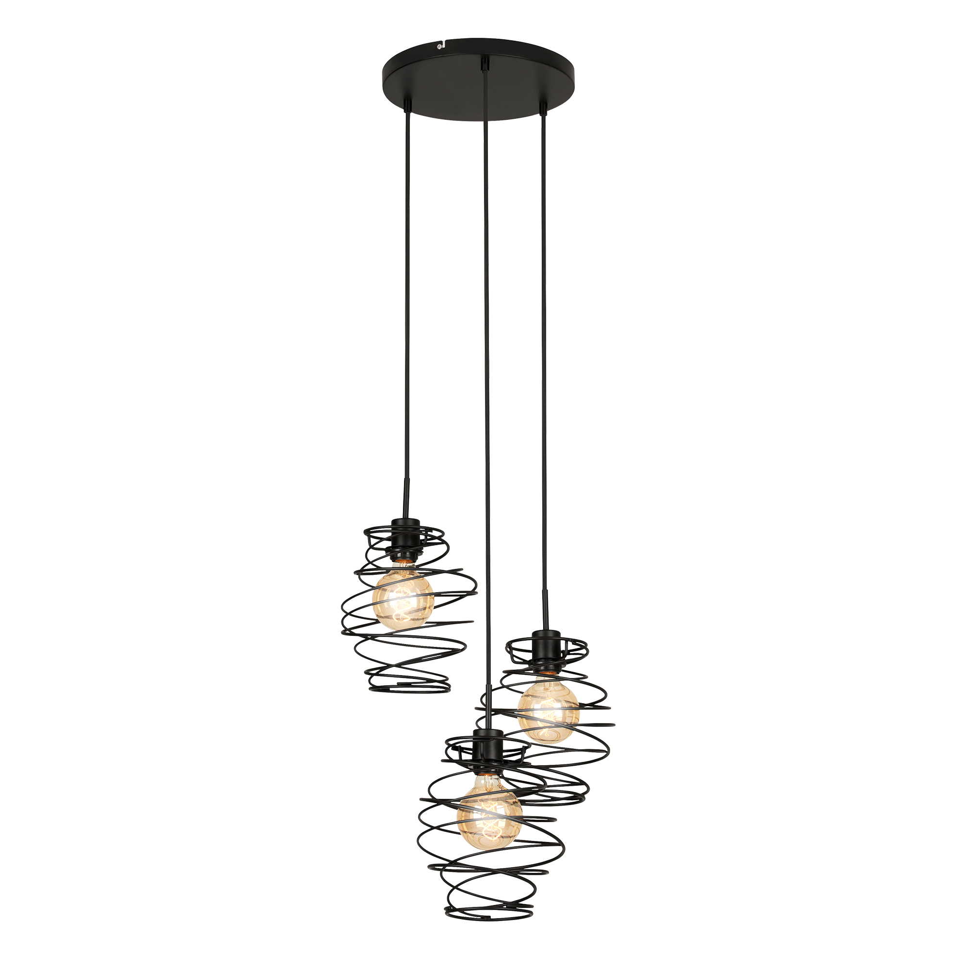LED Spot Pendelleuchte, Ø 30 cm, max. 60 W, Schwarz