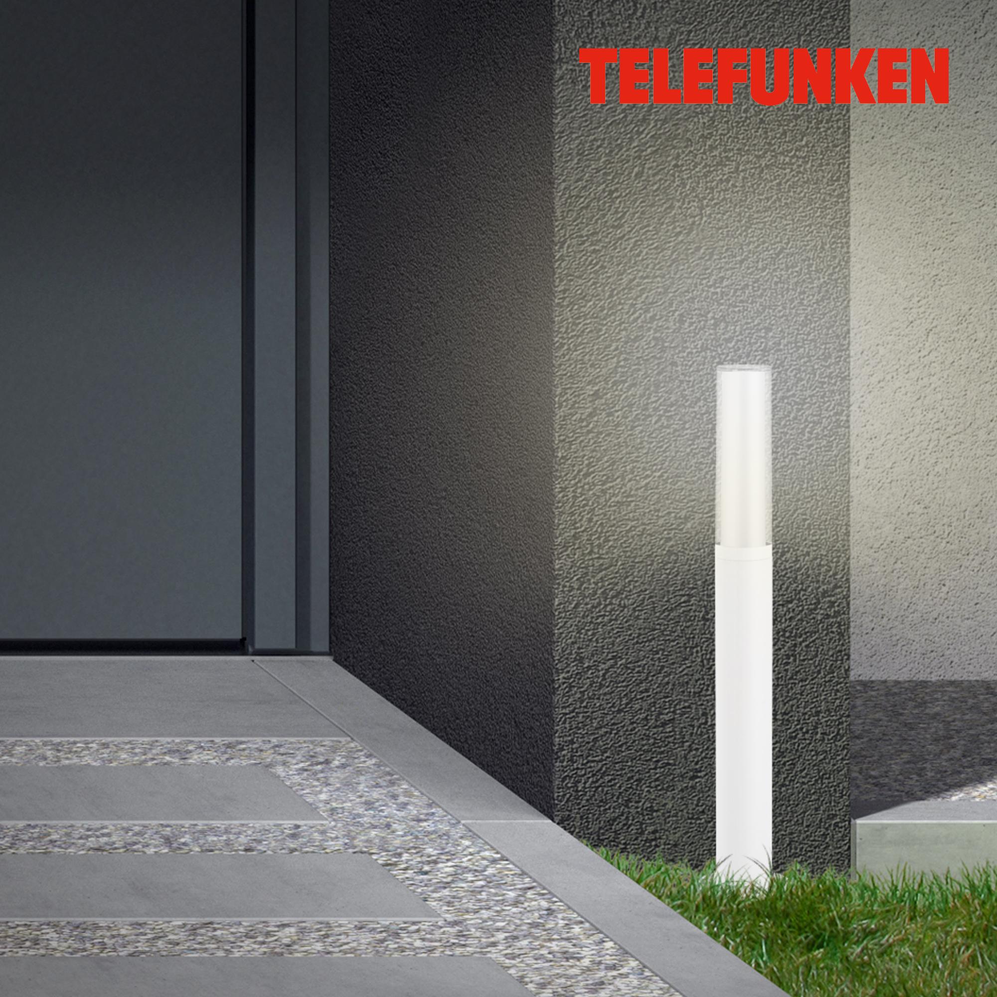 TELEFUNKEN LED Außenstehleuchte Weiß