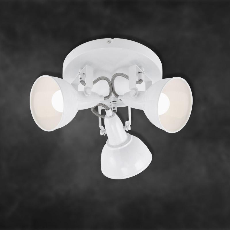 Moderne LED Deckenspots in weiß