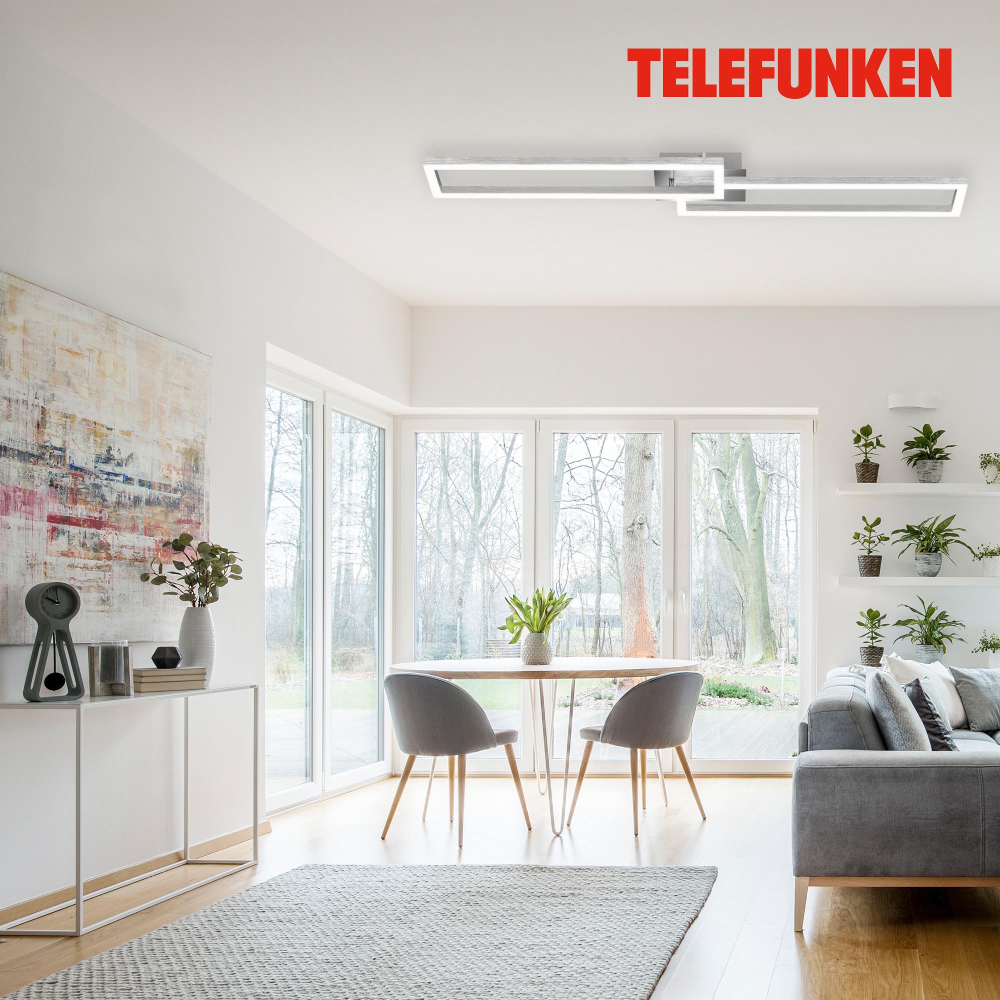 TELEFUNKEN Smart LED Deckenleuchte Chrom-Alu