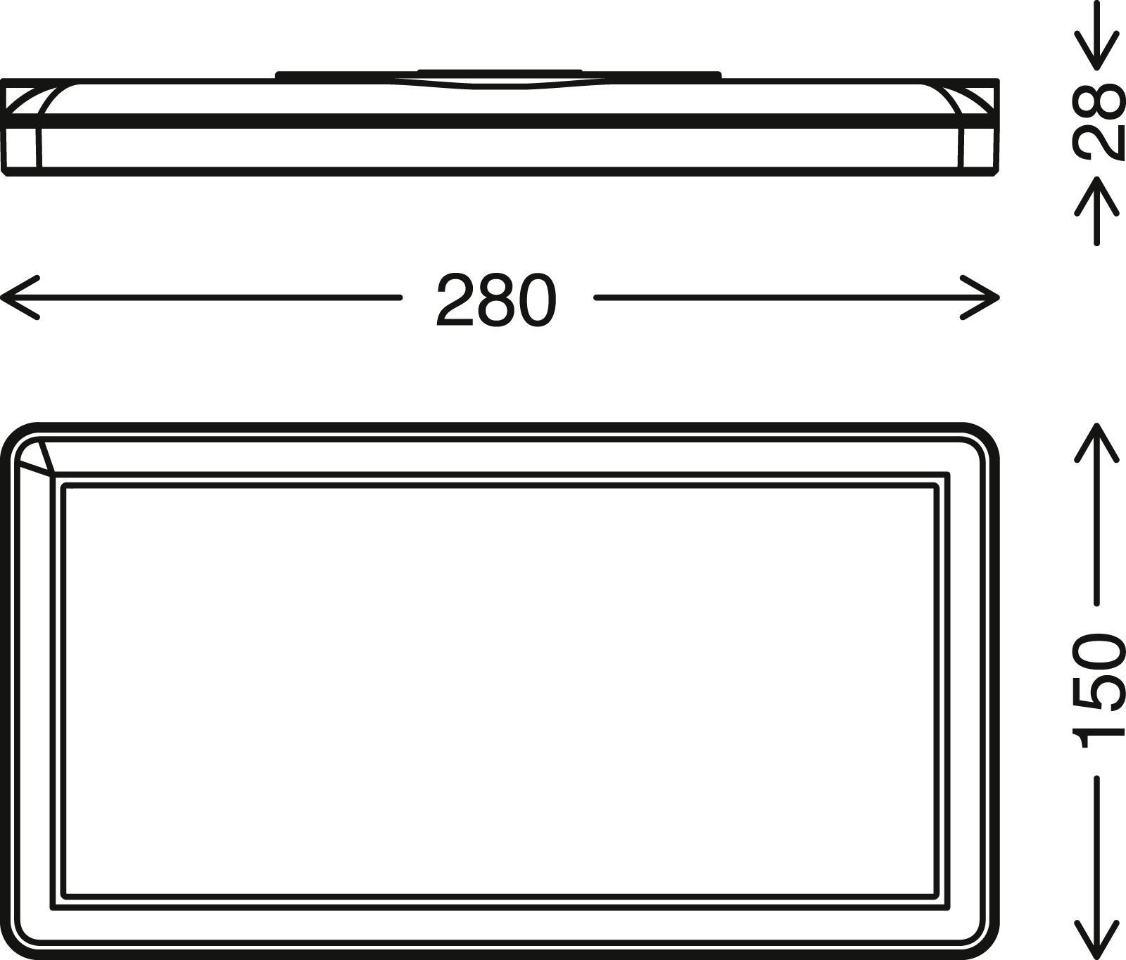 TELEFUNKEN LED Aussenwandleuchte, 28 cm, 16 W, Schwarz