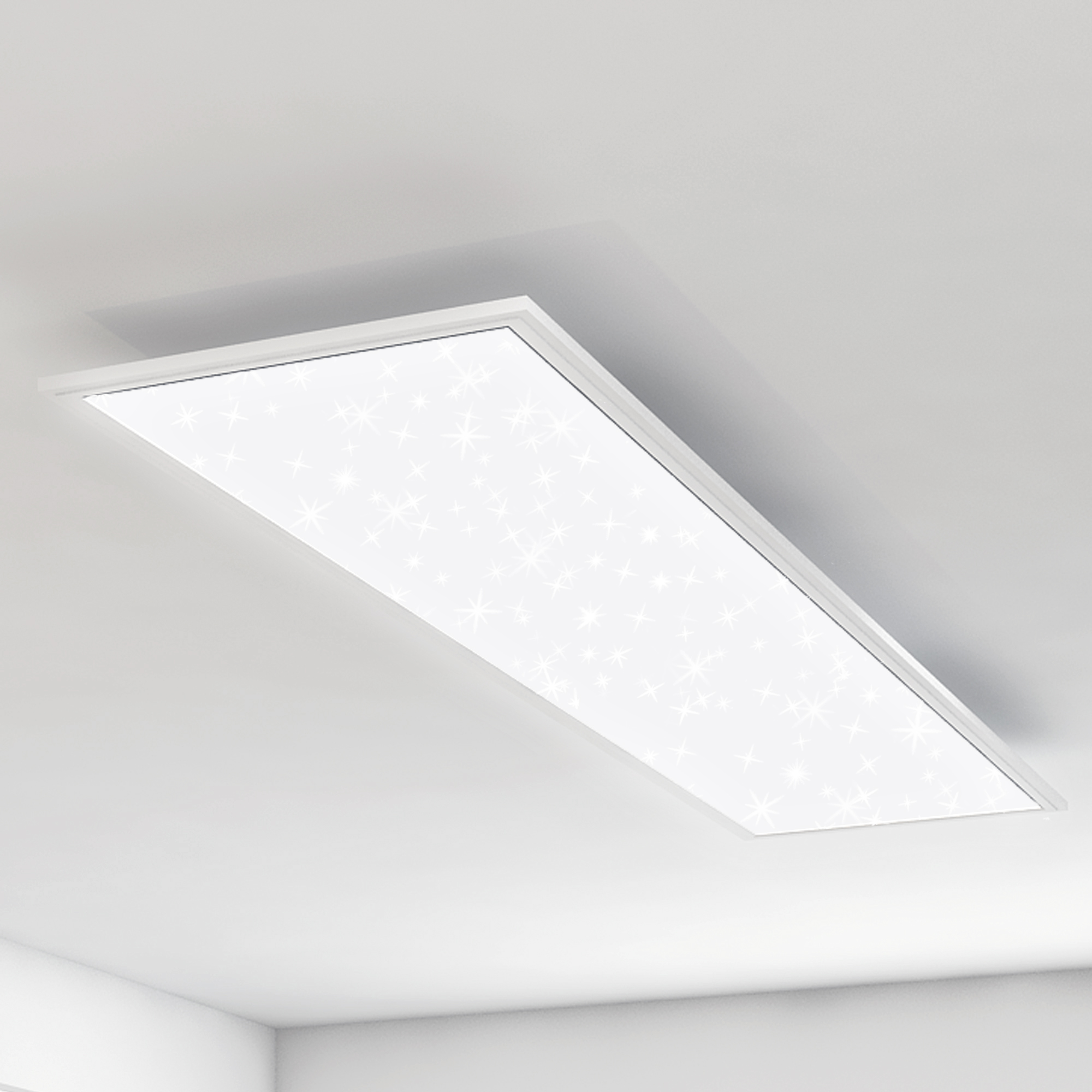STERNENHIMMEL LED Panel, 119,5 cm, 4100 LUMEN, 38 WATT, Weiss