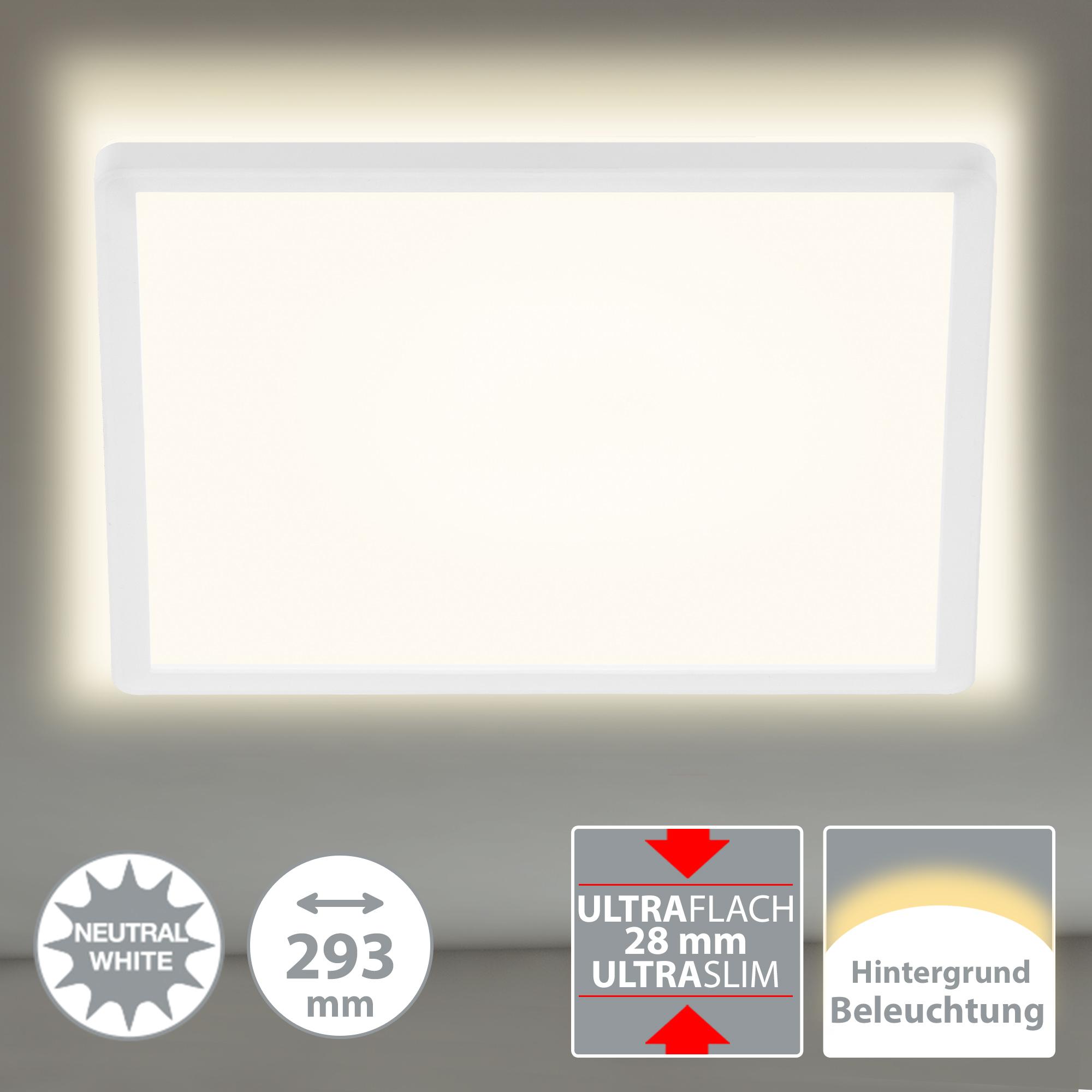 SLIM LED Panel, 29,3 cm, 2400 LUMEN, 18 WATT, Weiß