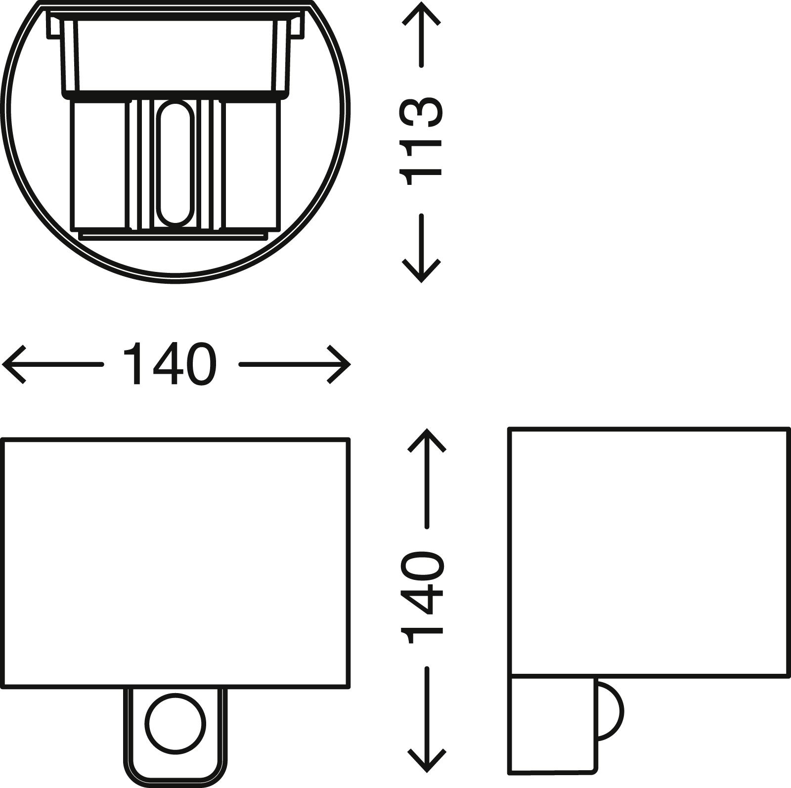 TELEFUNKEN Sensor LED Aussenleuchte, 14 cm, 7 W, Silber