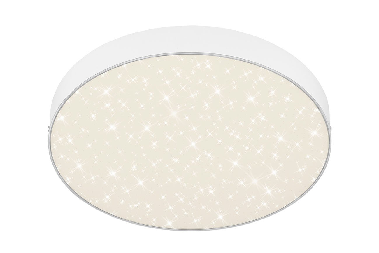 STERNENHIMMEL LED Deckenleuchte, Ø 28,7 cm, 21 W, Weiss
