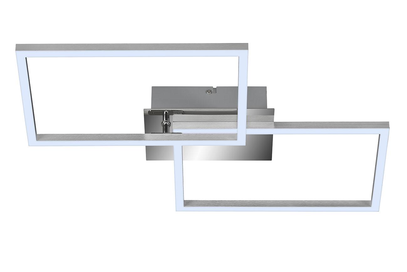 CCT LED Deckenleuchte, 50 cm, 3300 LM, 30 W, Alu-Chrom