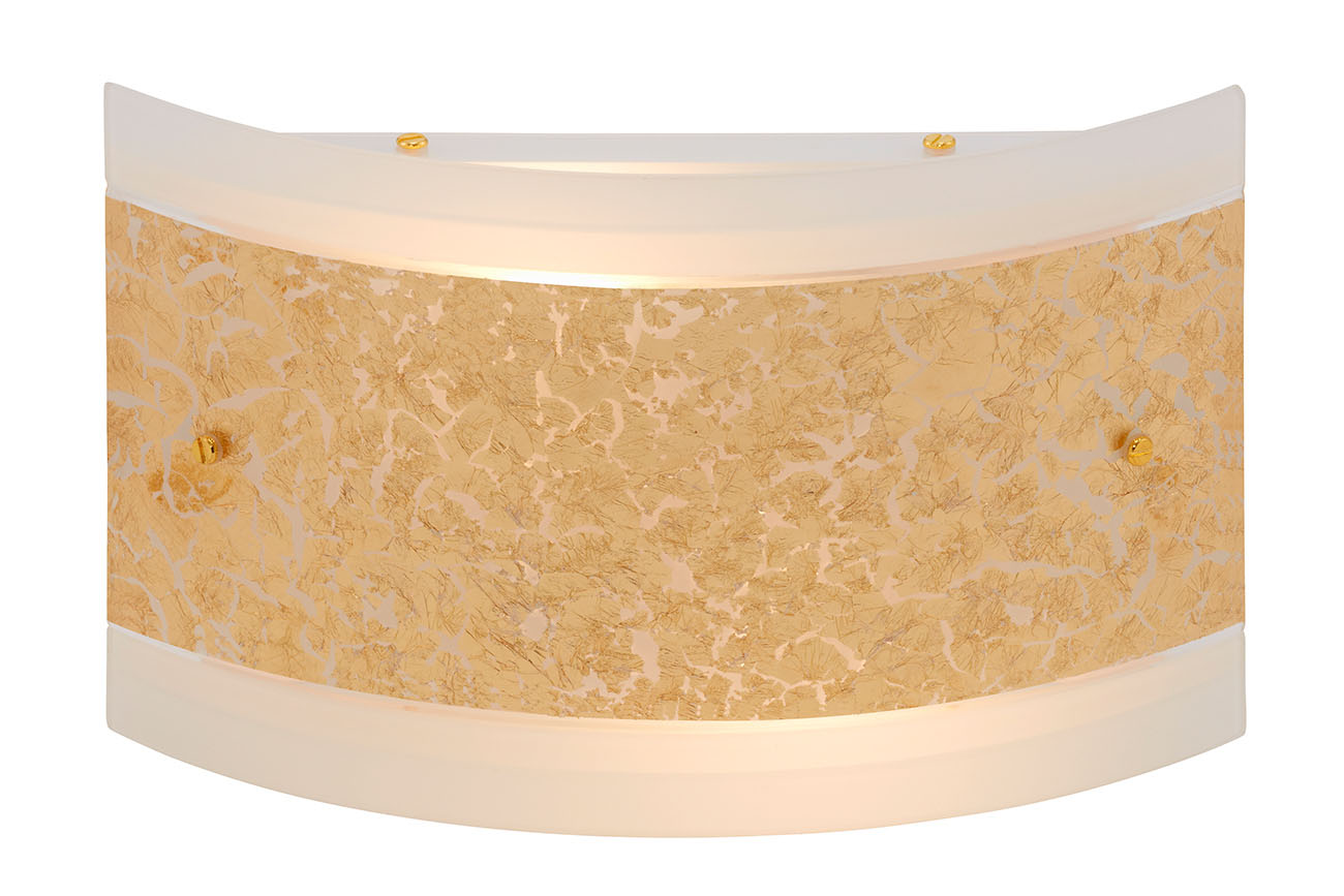 Wandleuchte, 30 cm, max. 40 W, Gold