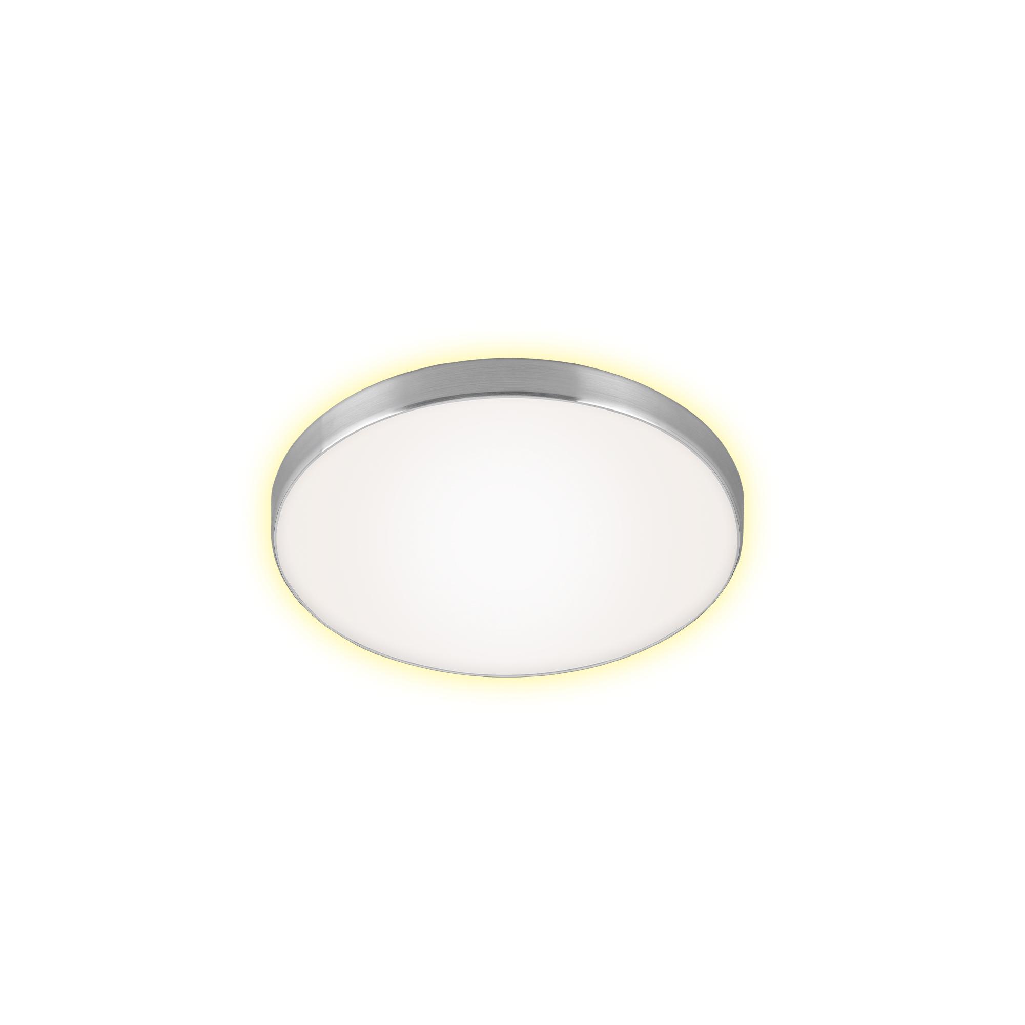 LED Deckenleuchte, Ø 28,5 cm, 12 W, Alu-Weiß