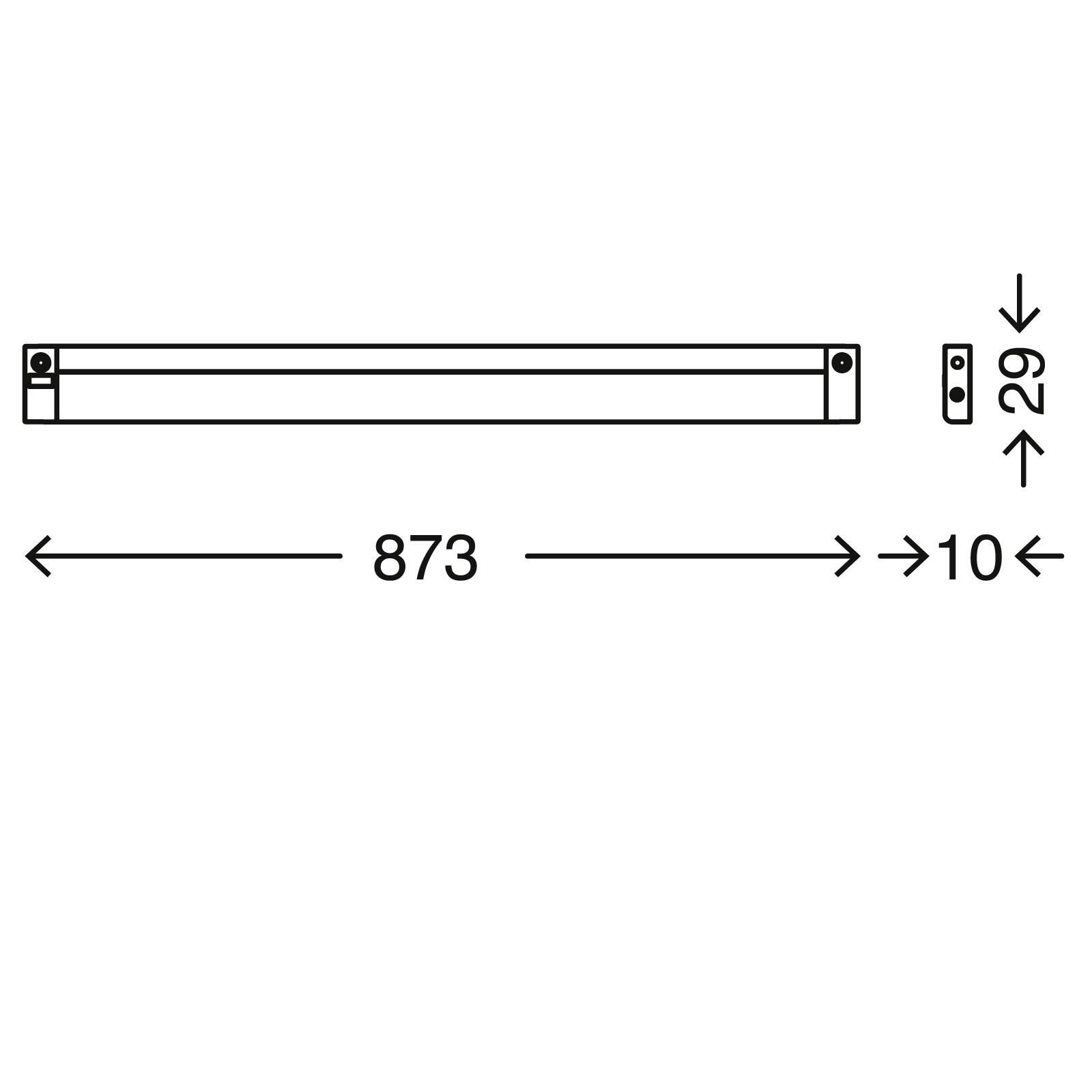TELEFUNKEN LED Unterbauleuchte, 87,3 cm, 10 W, Silber