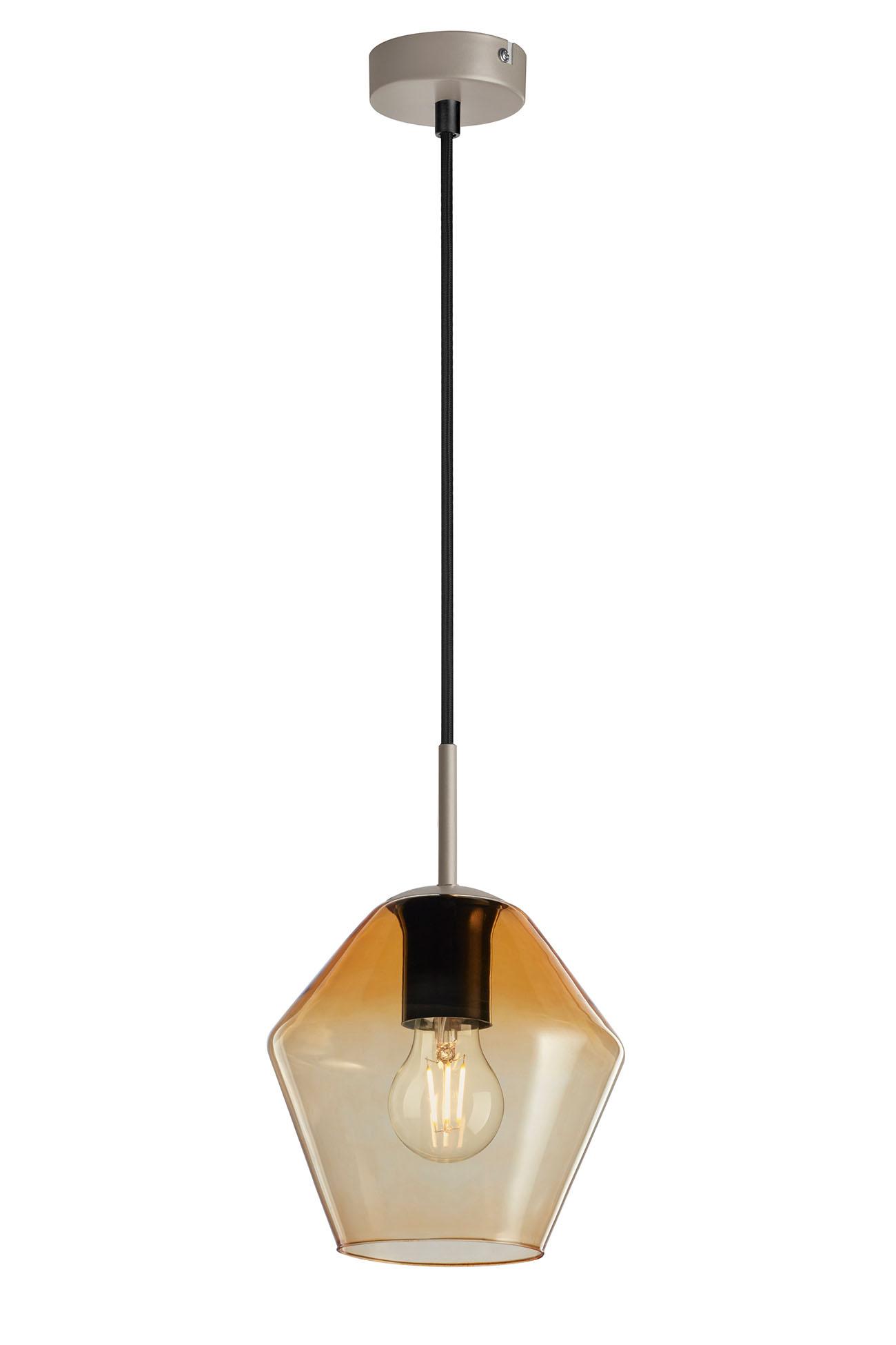 Pendelleuchte, Ø 19 cm, max. 40 W, Amber-Gold