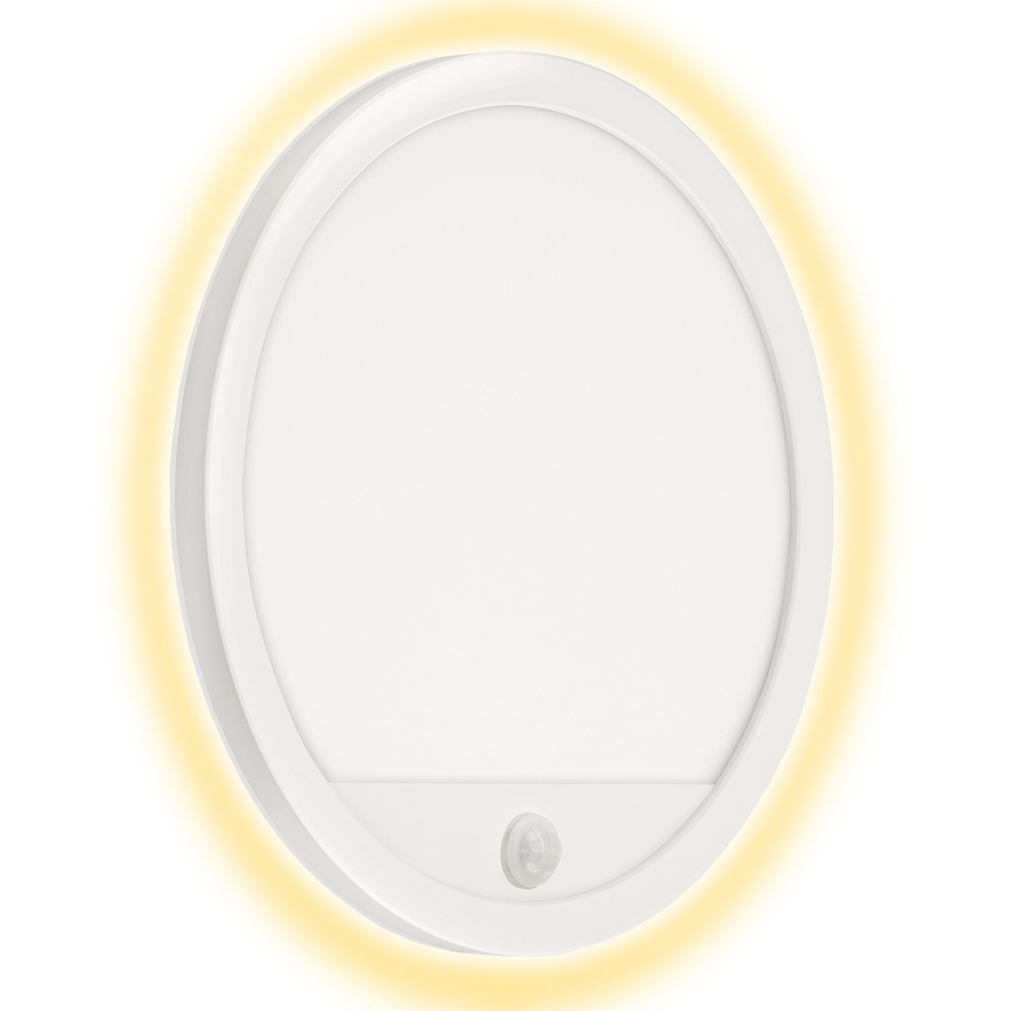 TELEFUNKEN LED Außenwandleuchte, Ø 28 cm, 15 W, Weiß