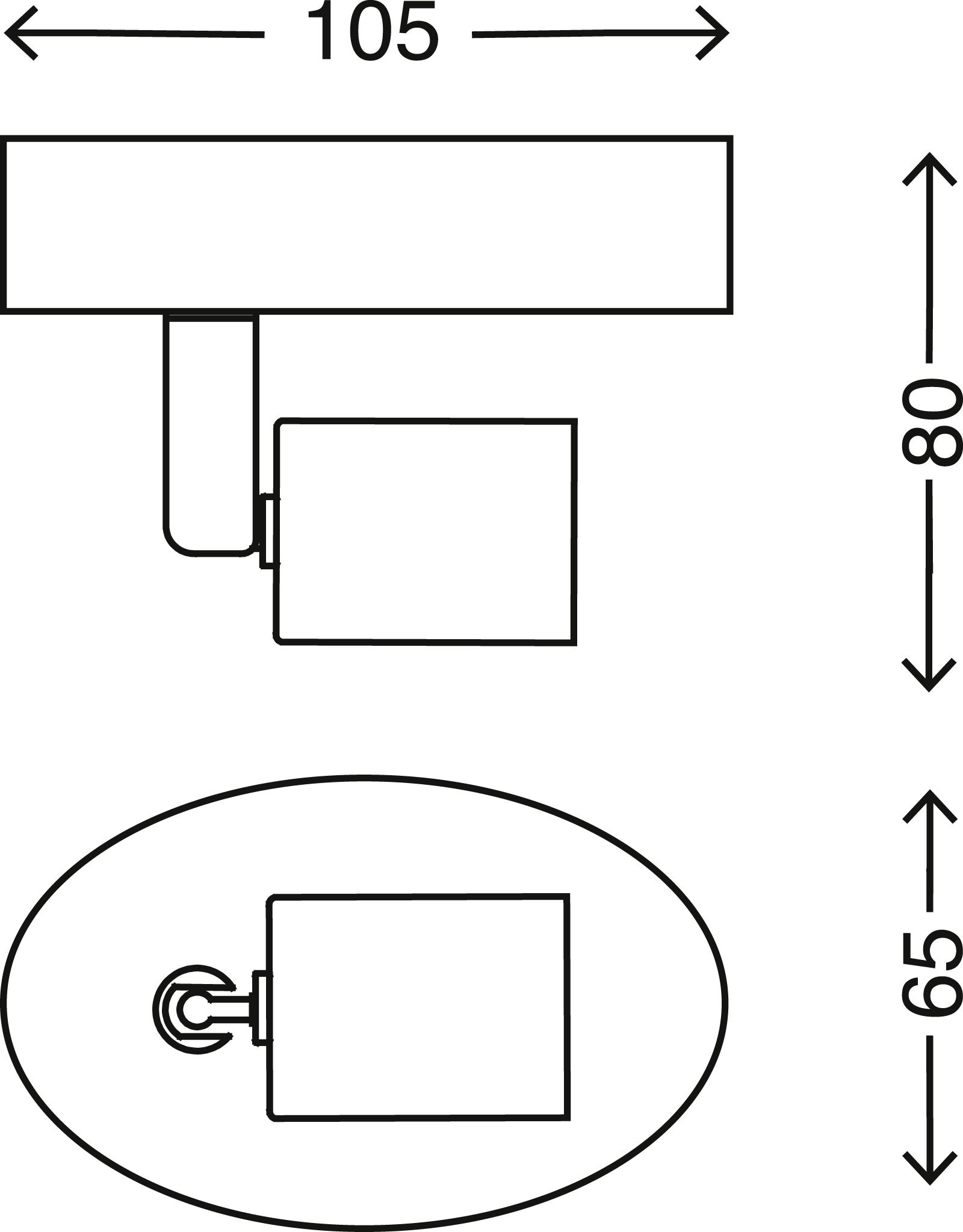 Spot Wand- und Deckenleuchte, 10,5 cm, max. 35 W, Matt-Nickel