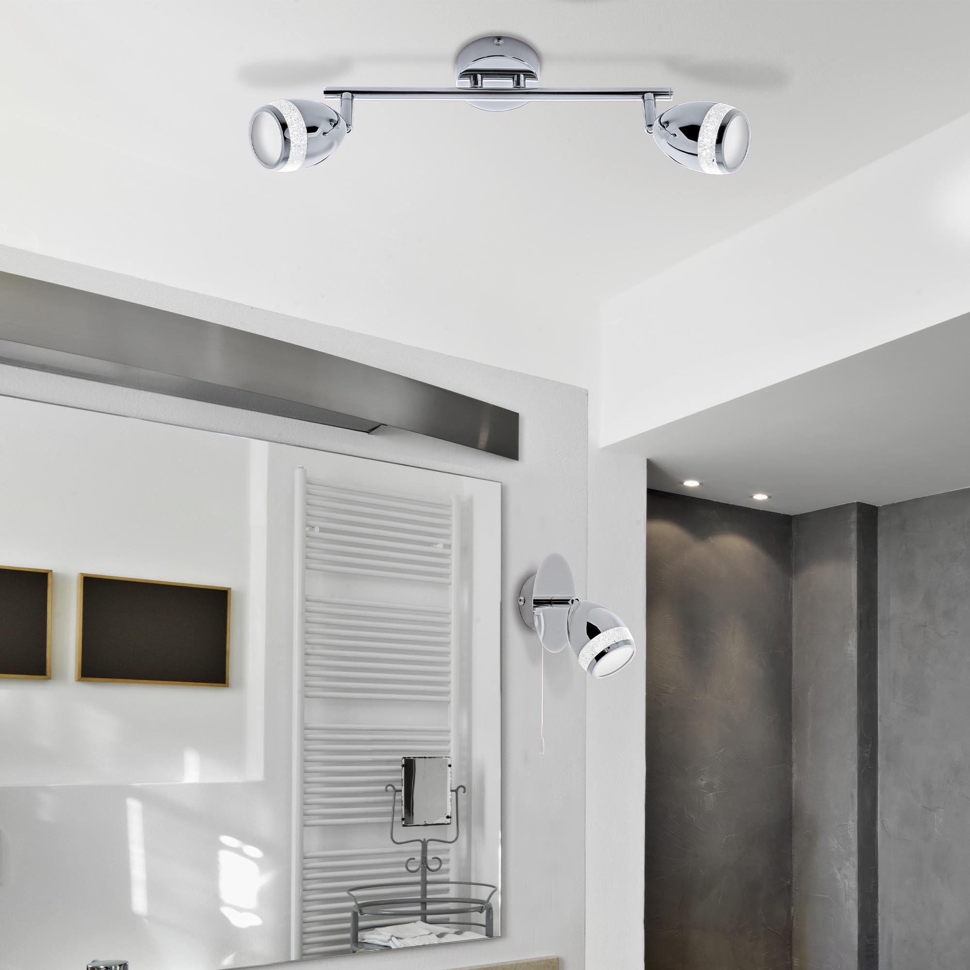 LED Spot Wand- und Deckenleuchte Chrom