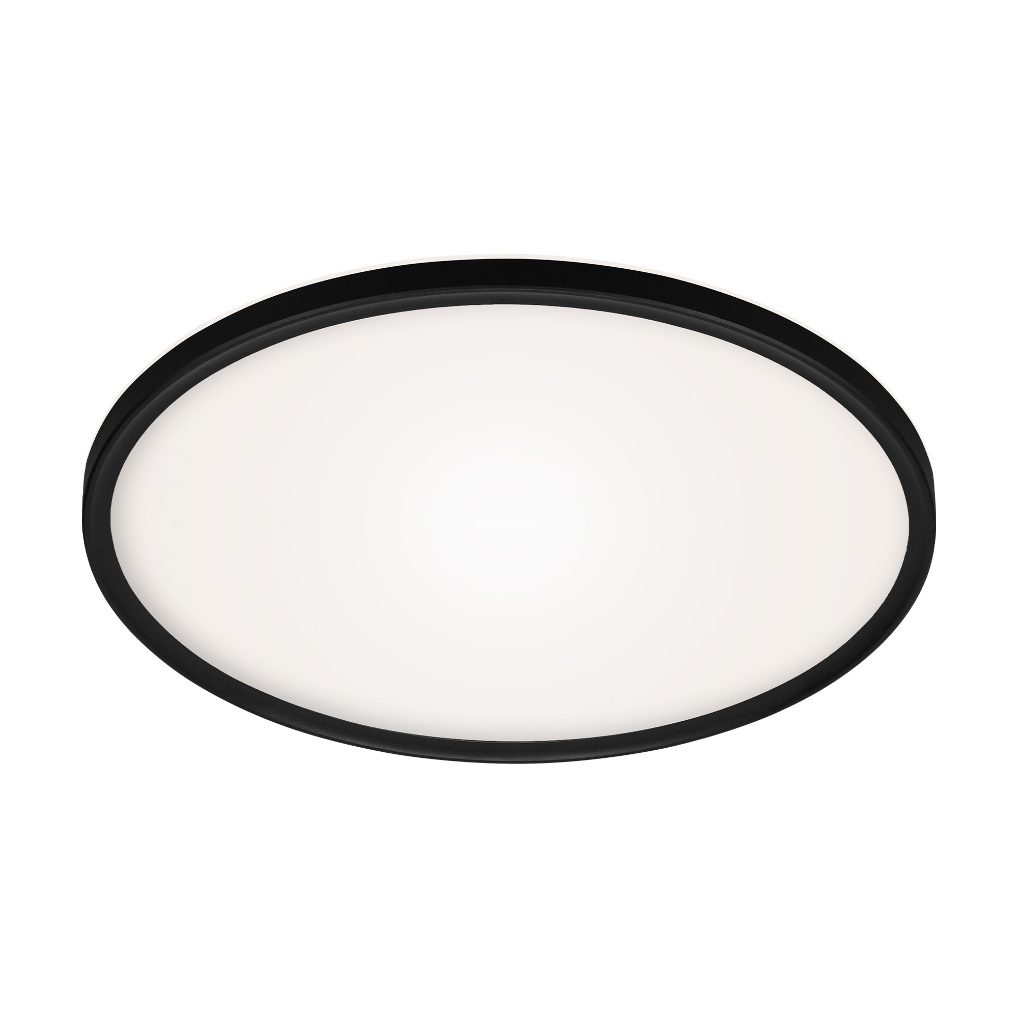 SLIM CCT LED Panel, Ø 42 cm, 22 W, Schwarz