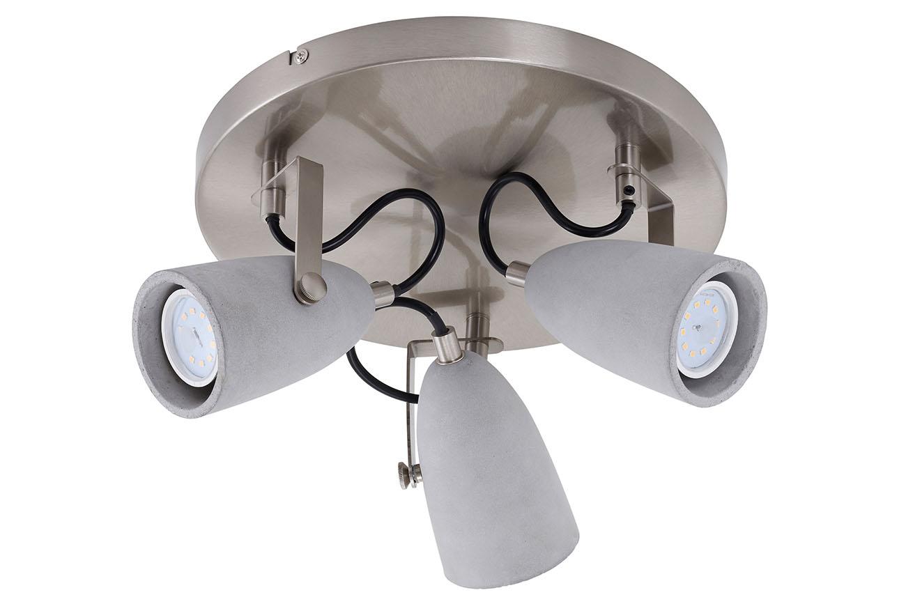 LED Spot Deckenleuchte, Ø 28 cm, 15 W, Grau-Matt-Nickel